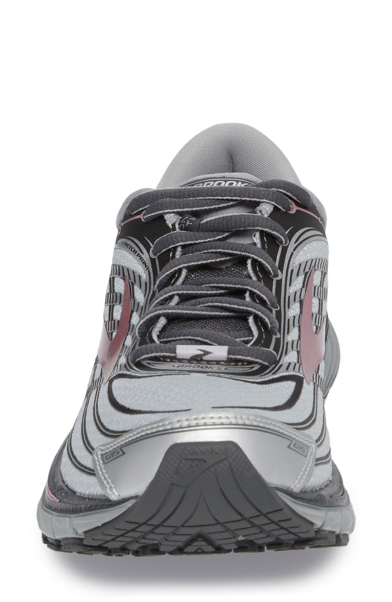 Glycerin 15 Running Shoe,                             Alternate thumbnail 4, color,                             Silver/ Grey/ Rose