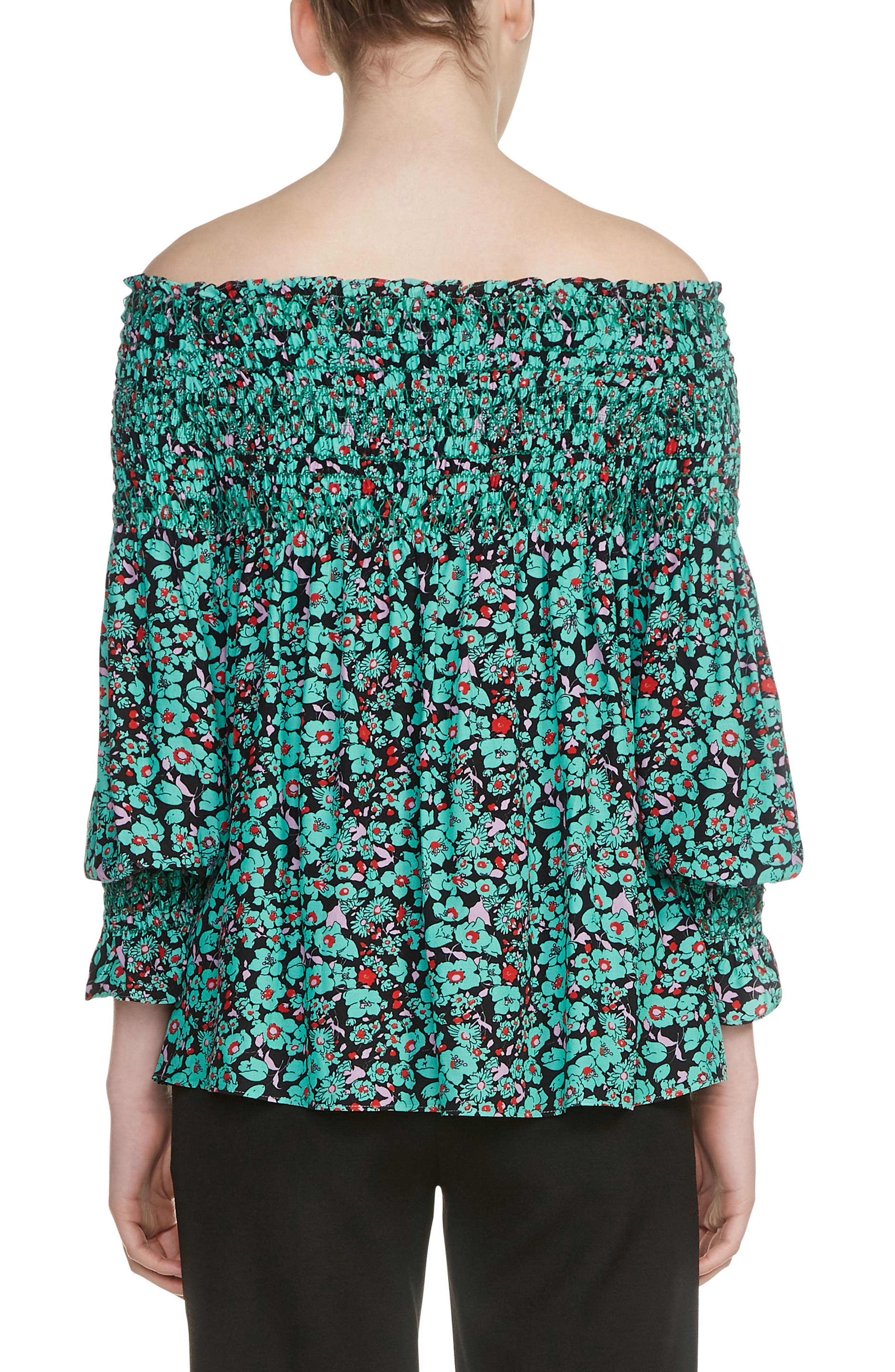 Lafine Off the Shoulder Top,                             Alternate thumbnail 2, color,                             Printed