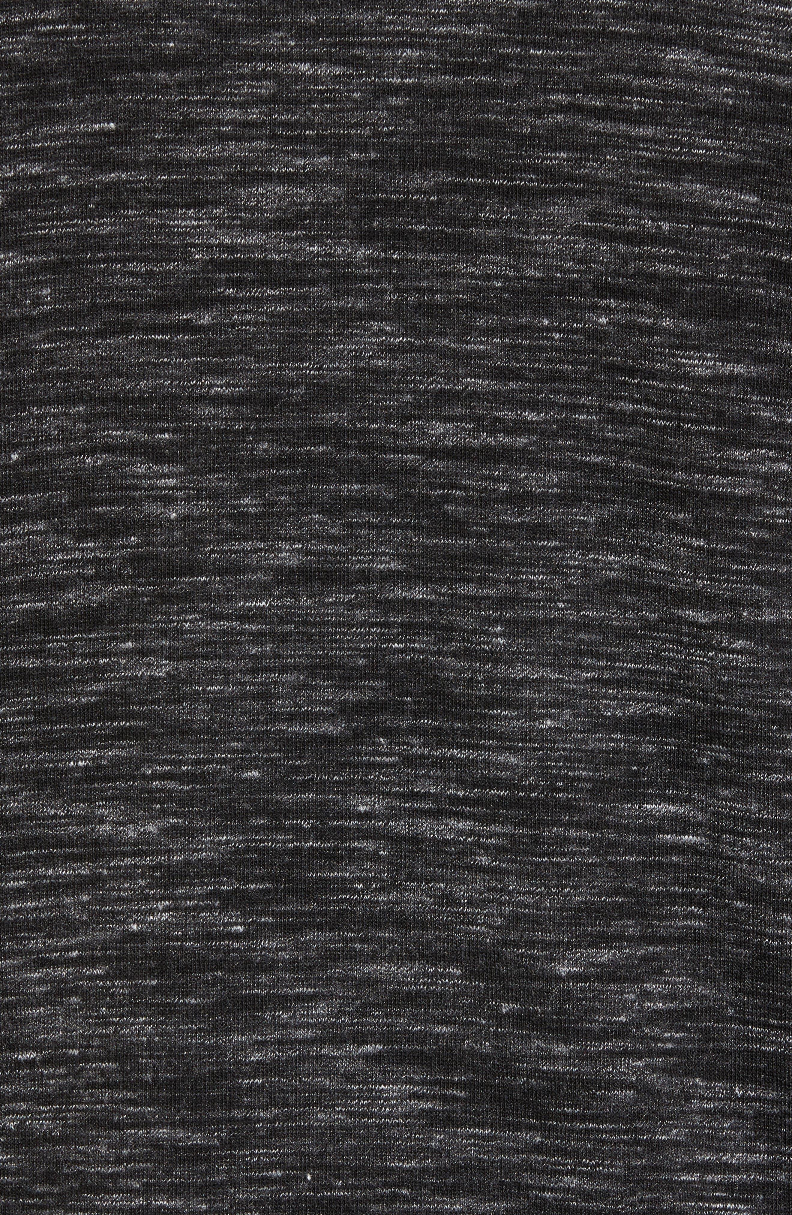 Neptune Hooded Pullover,                             Alternate thumbnail 5, color,                             Black Oxide Melange