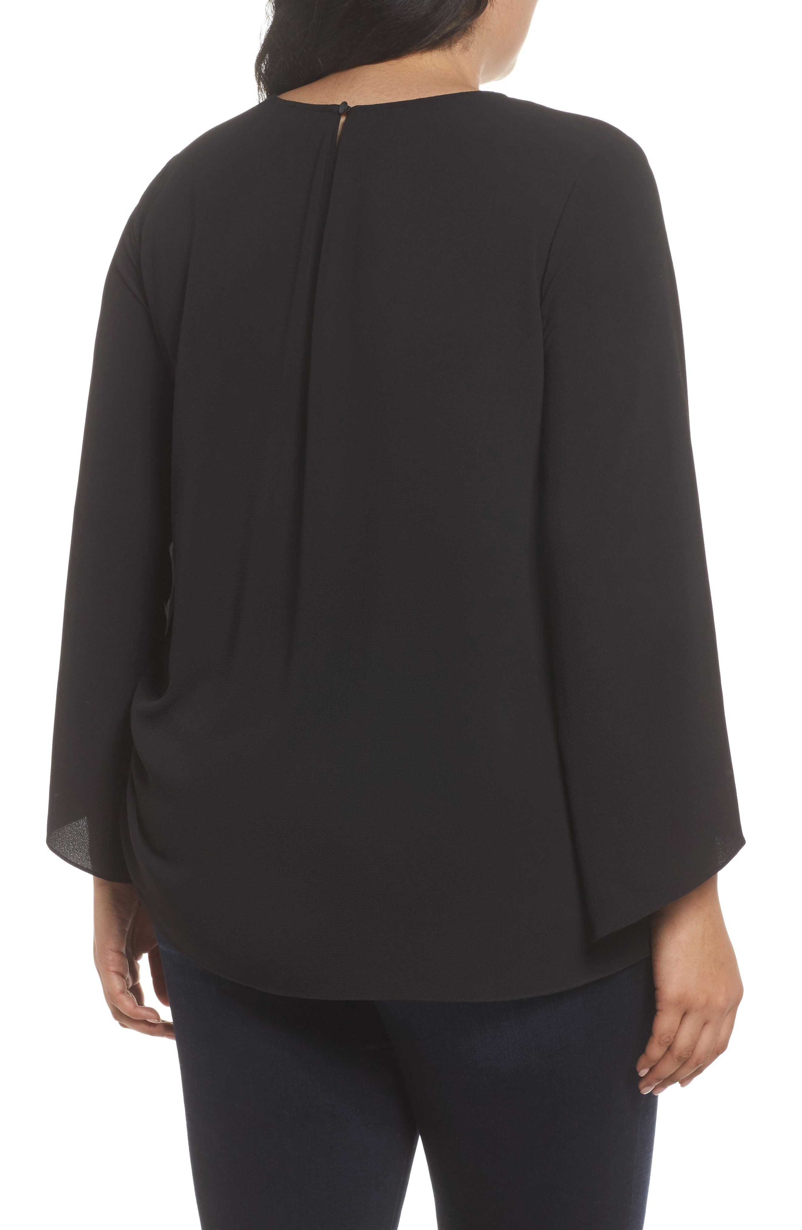 Alternate Image 2  - Vince Camuto Drawstring Side Blouse (Plus Size)