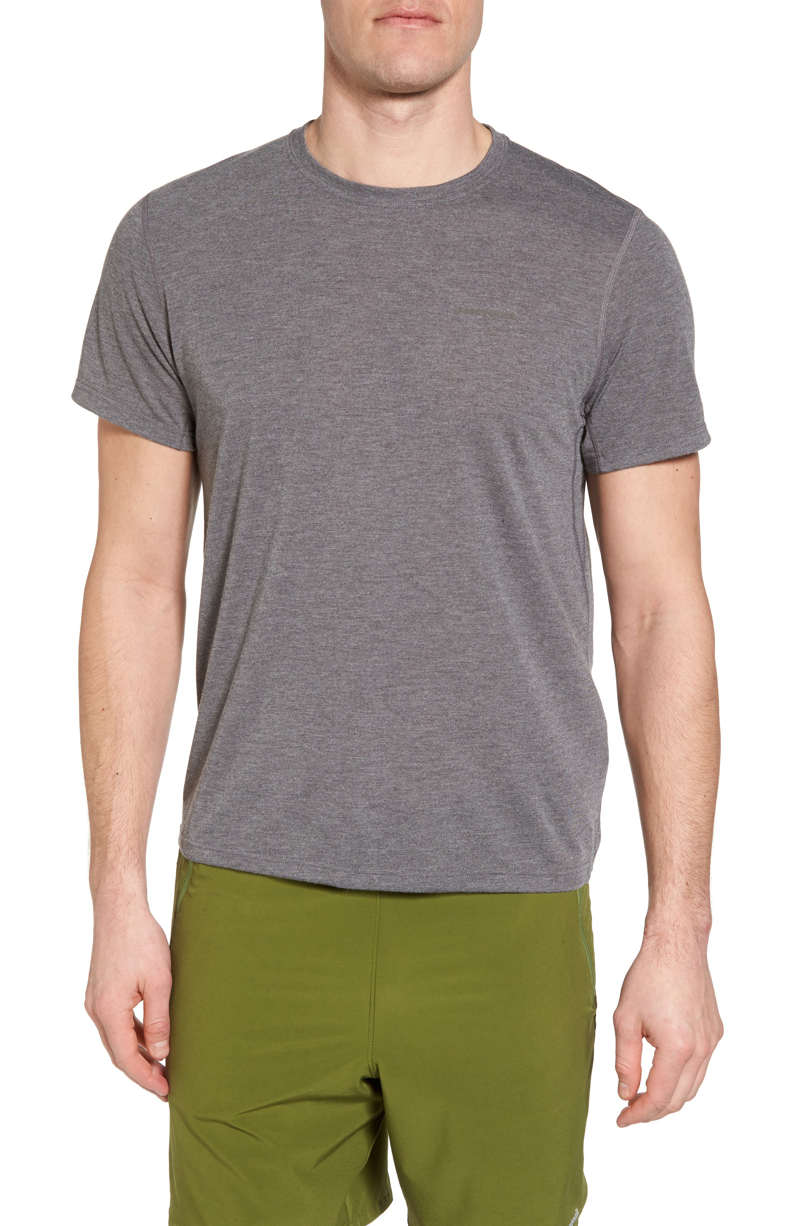 Nine Trails Crewneck T-Shirt,                         Main,                         color, Black