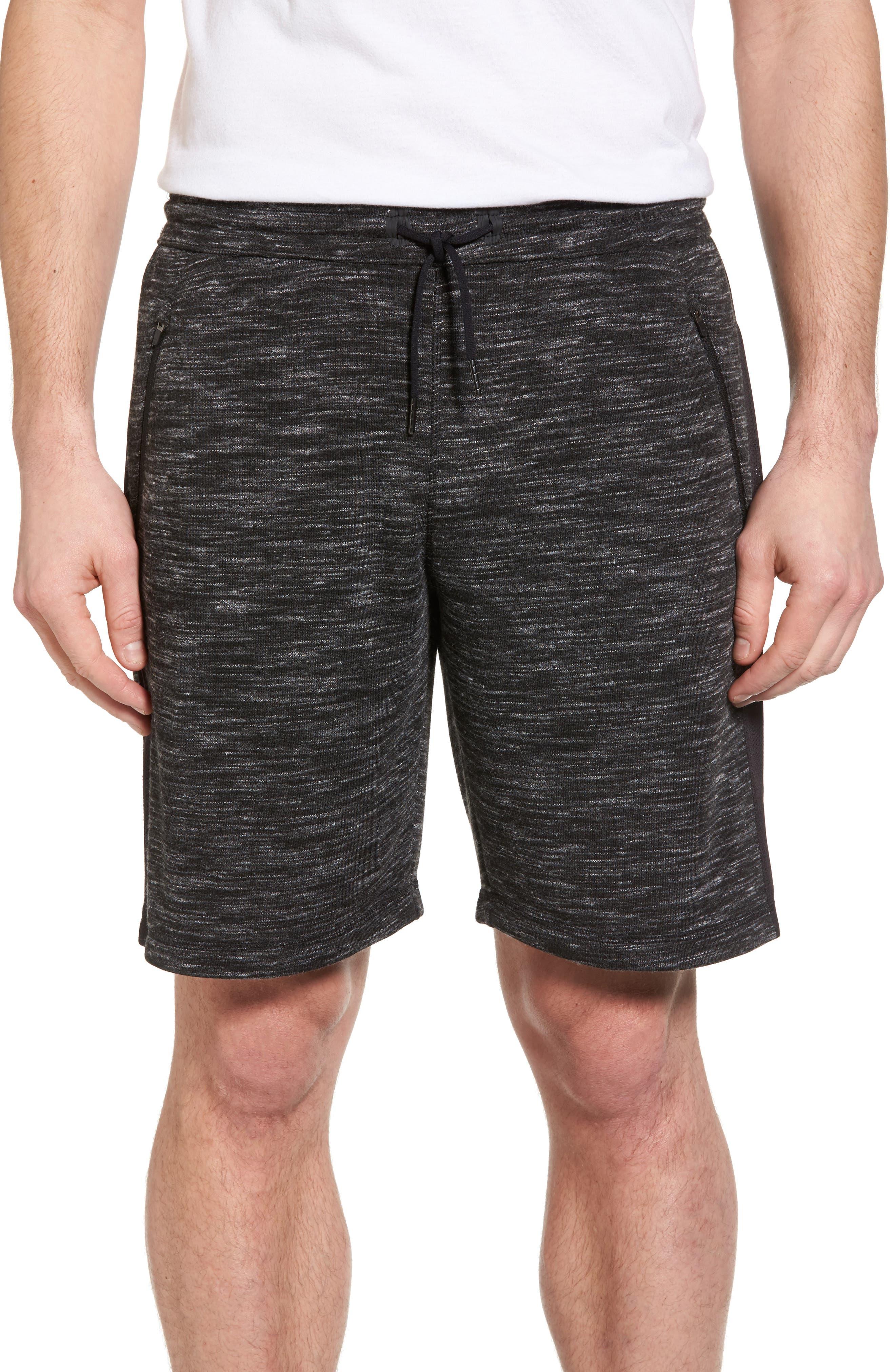 Neptune Terrycloth Shorts,                         Main,                         color, Black Oxide Melange