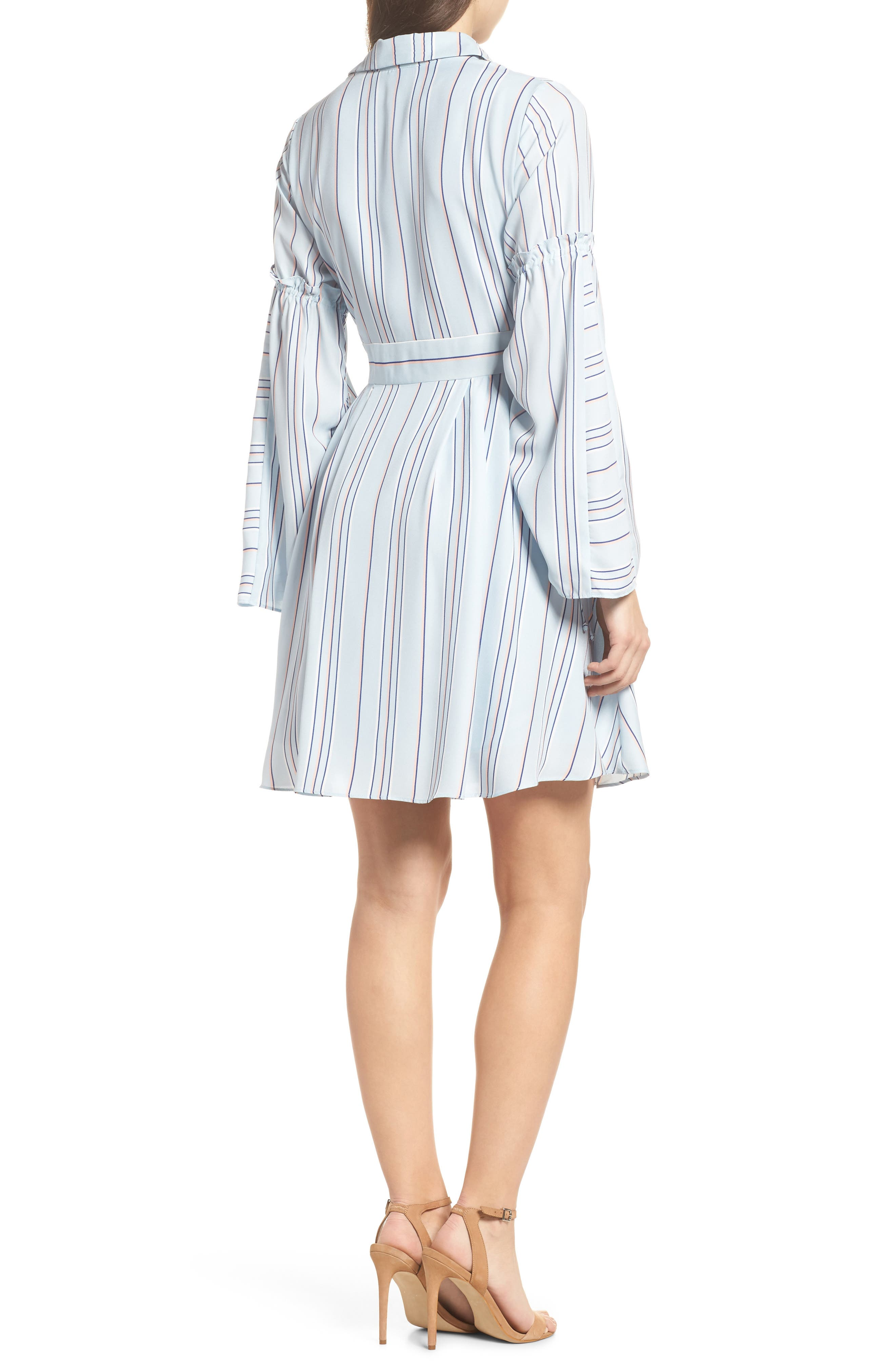 Stripe Shirtdress,                             Alternate thumbnail 2, color,                             Powder Blue Multi