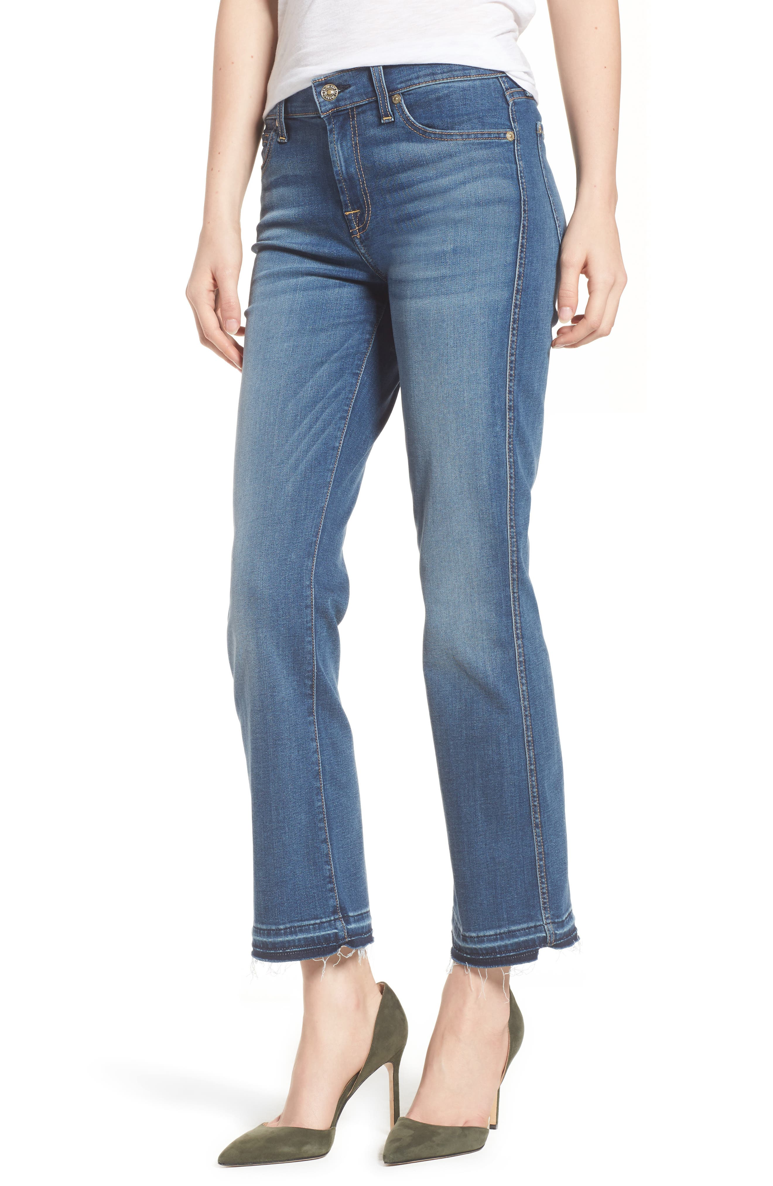Main Image - 7 For All Mankind® b(air) Crop Bootcut Jeans (Vintage Dusk)