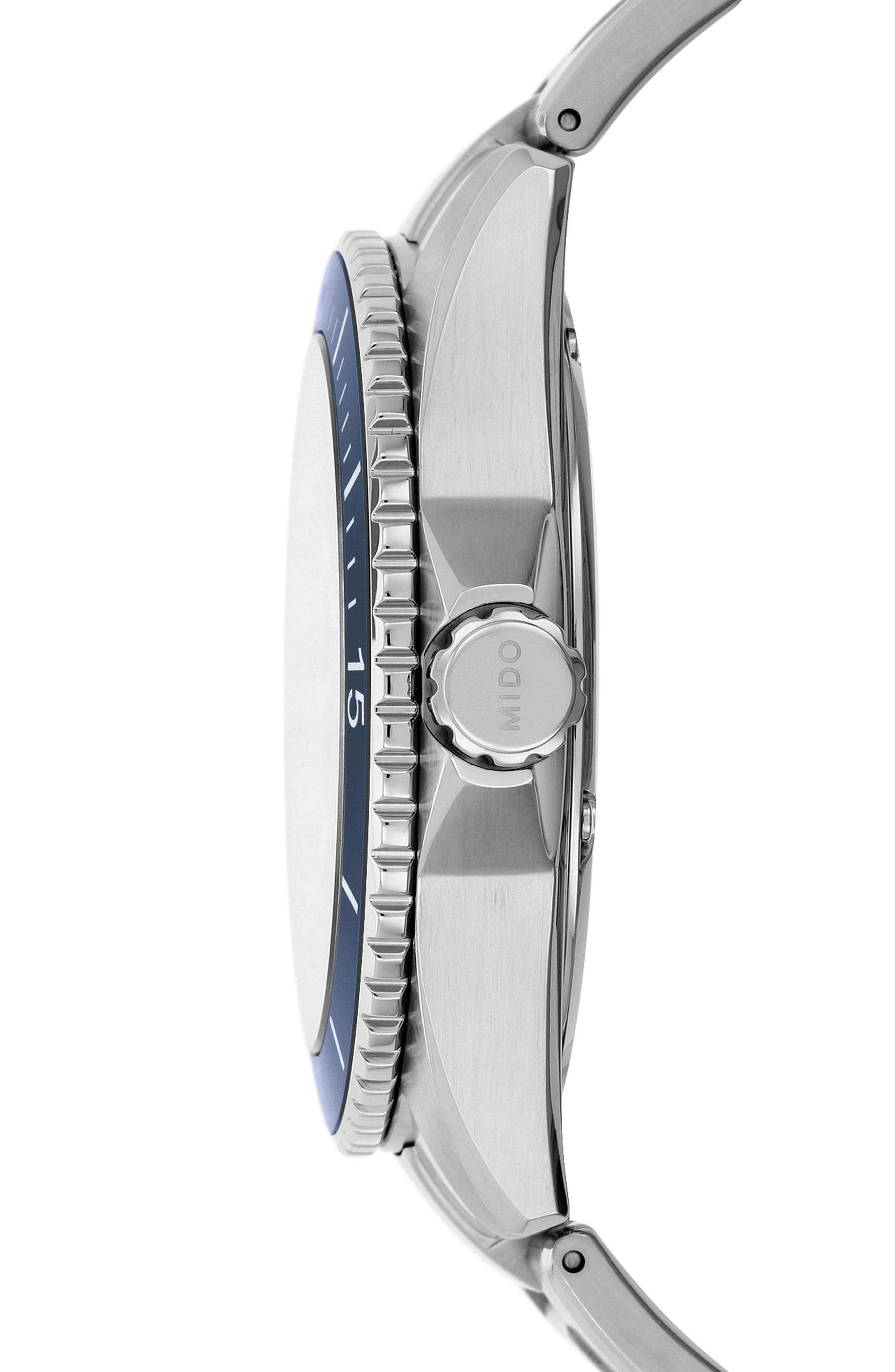 Ocean Star Diver Bracelet Watch, 42mm,                             Alternate thumbnail 3, color,                             Silver/ Navy/ Wilver