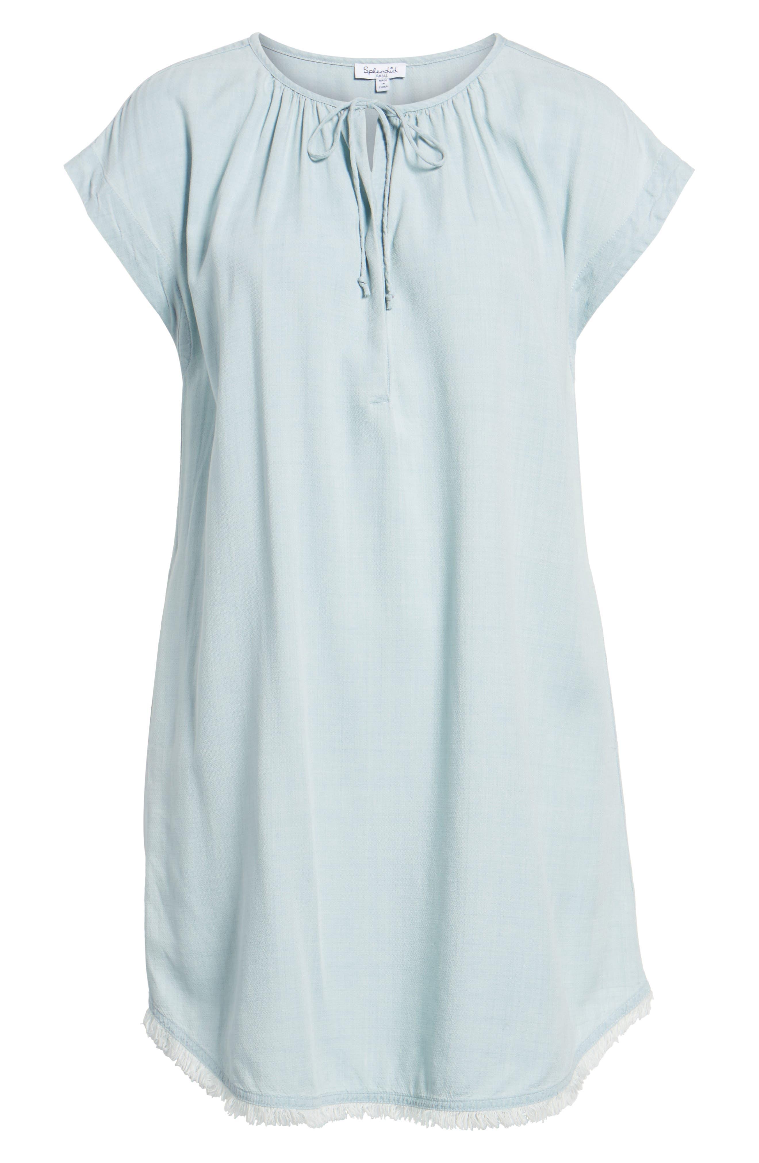 Chambray Shift Dress,                             Alternate thumbnail 6, color,                             Polar