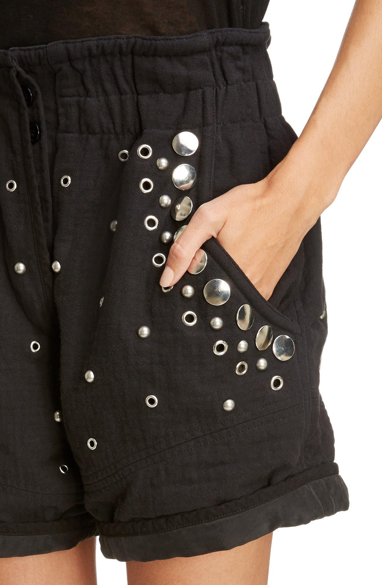 Alternate Image 5  - Isabel Marant Grommet & Stud Shorts
