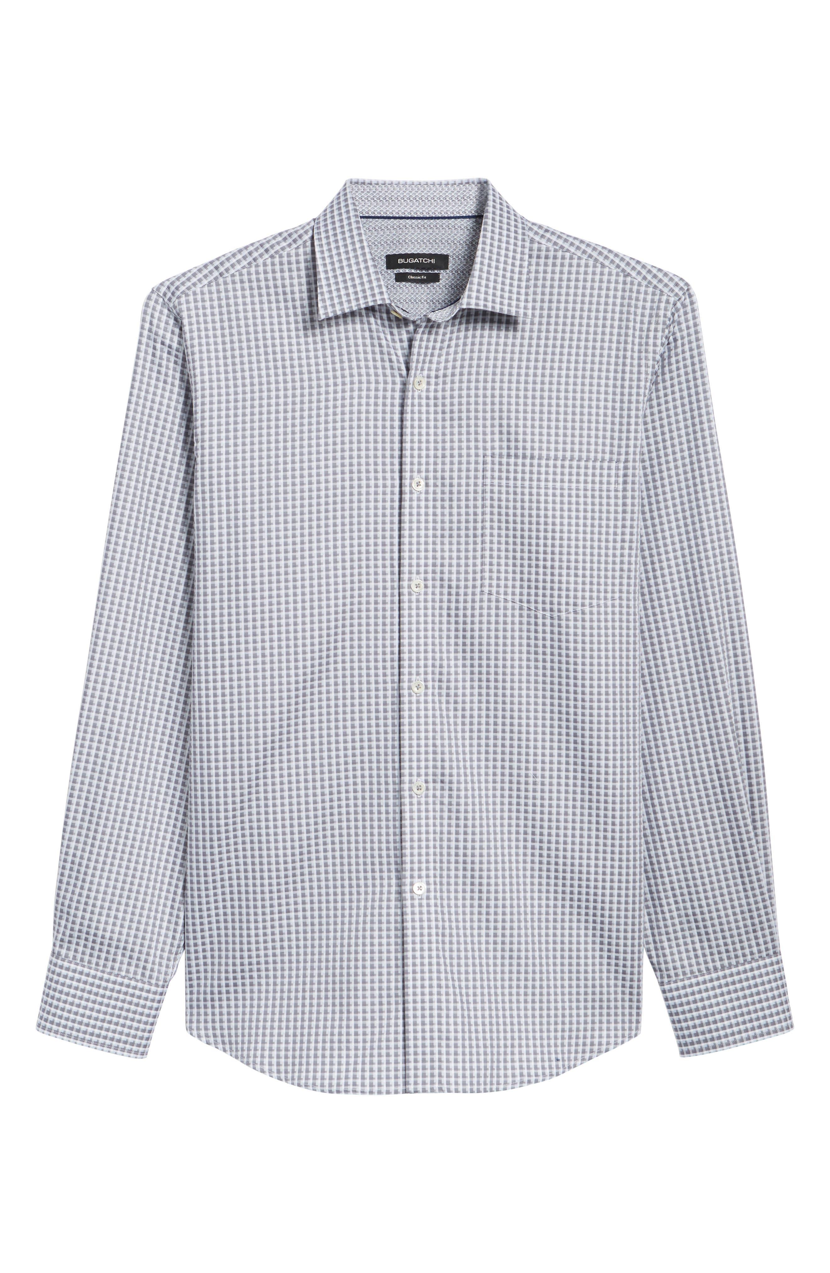 Regular Fit Check Sport Shirt,                             Alternate thumbnail 6, color,                             Platinum