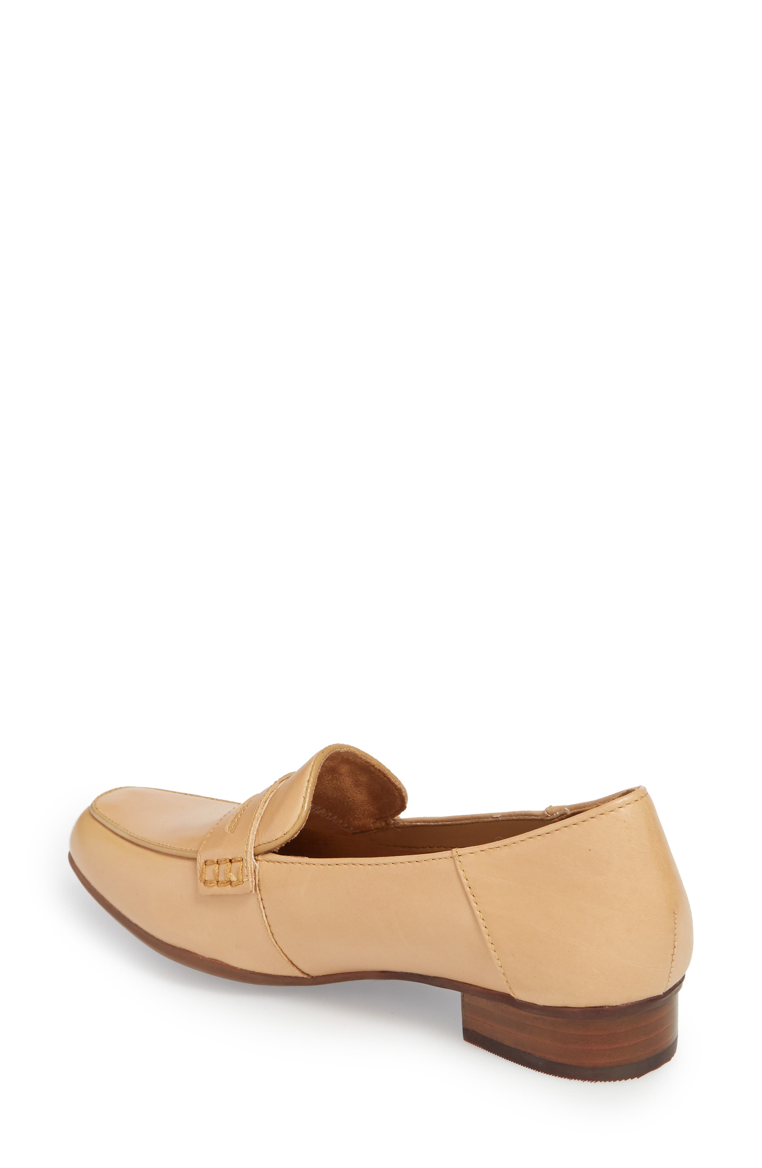 Keesha Cora Penny Loafer,                             Alternate thumbnail 2, color,                             Light Tan Leather