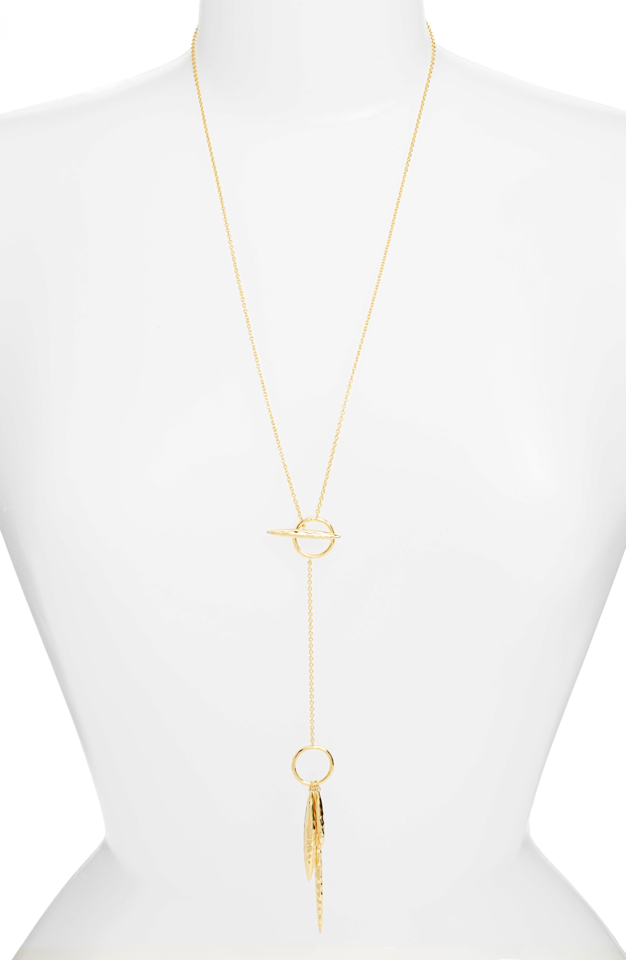 Nora Hammered Toggle Necklace,                         Main,                         color, Gold