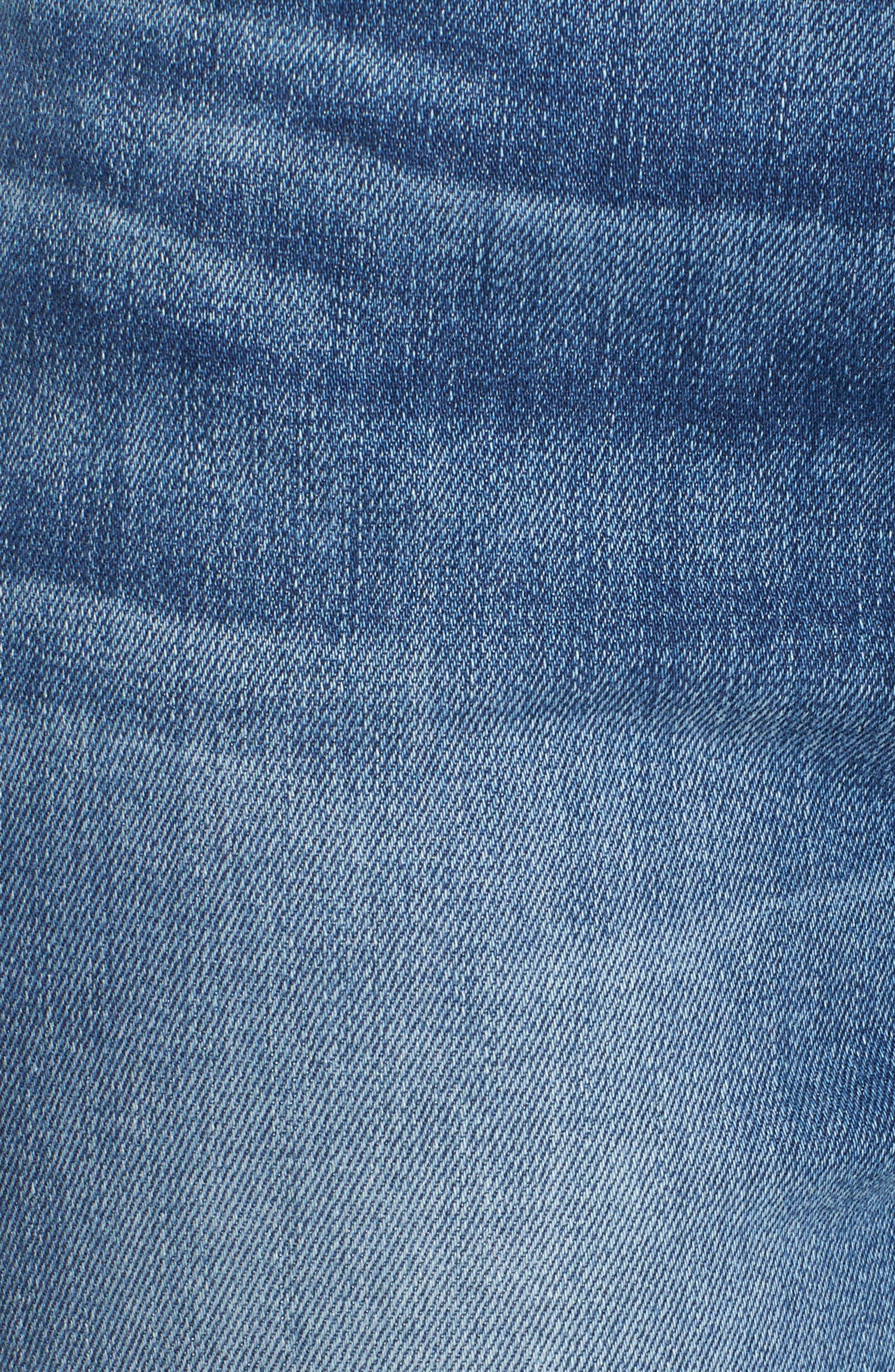 Release Hem Ankle Skinny Jeans,                             Alternate thumbnail 5, color,                             Garden City