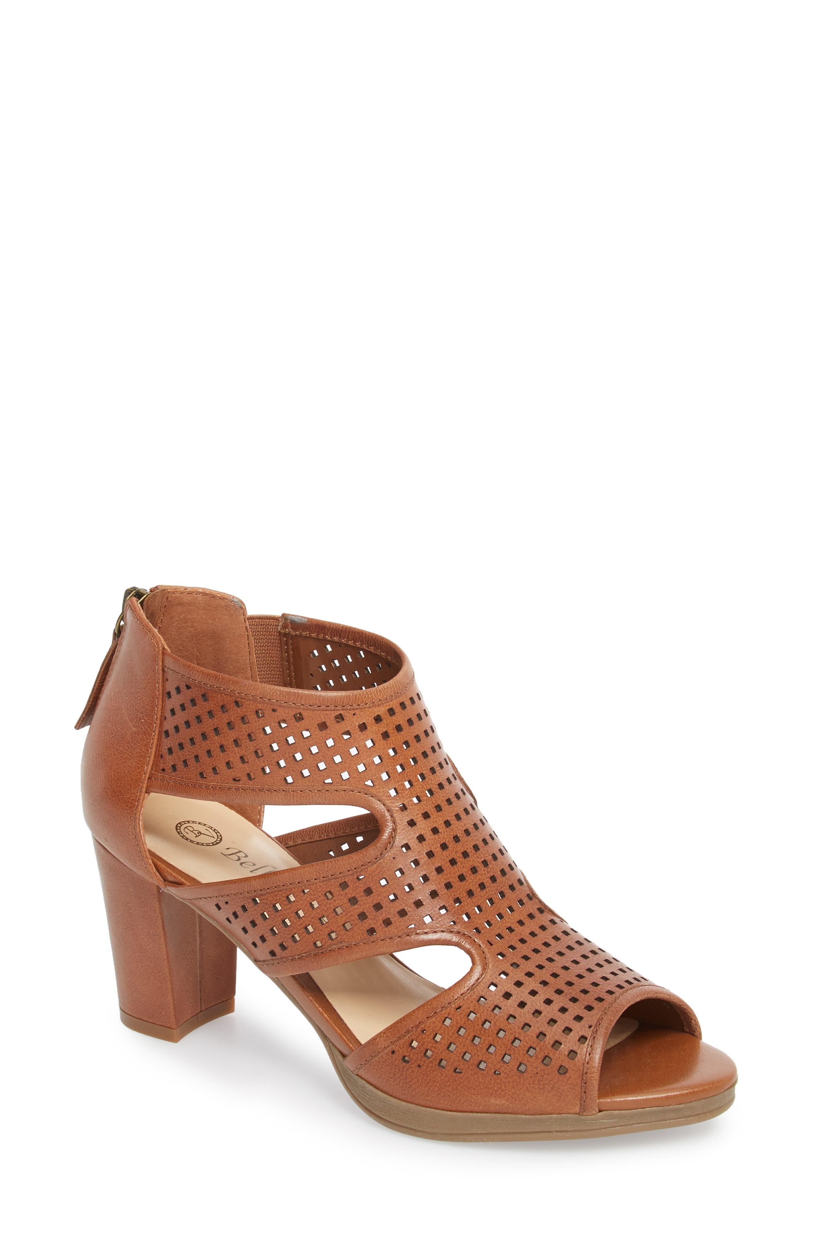 Leslie Sandal,                         Main,                         color, Tan Leather