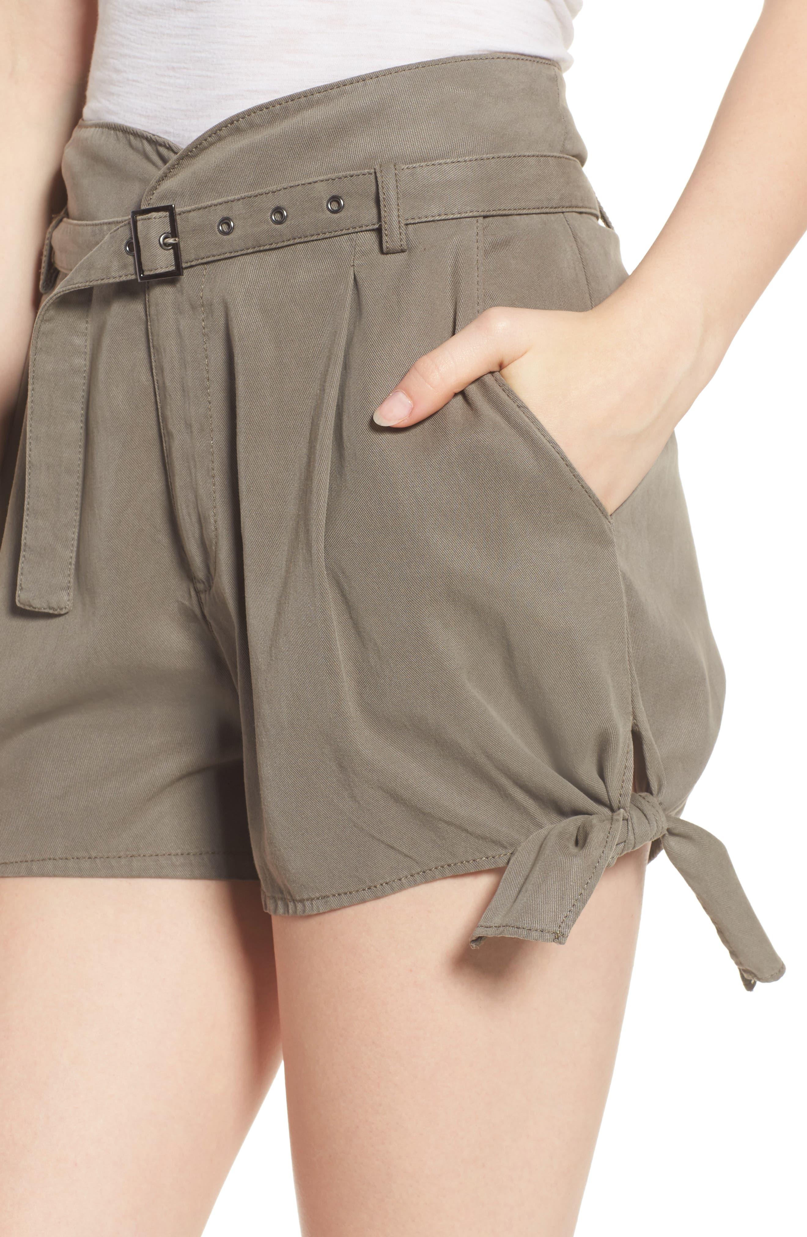 Alternate Image 4  - PAIGE Claudette Tie Hem Shorts