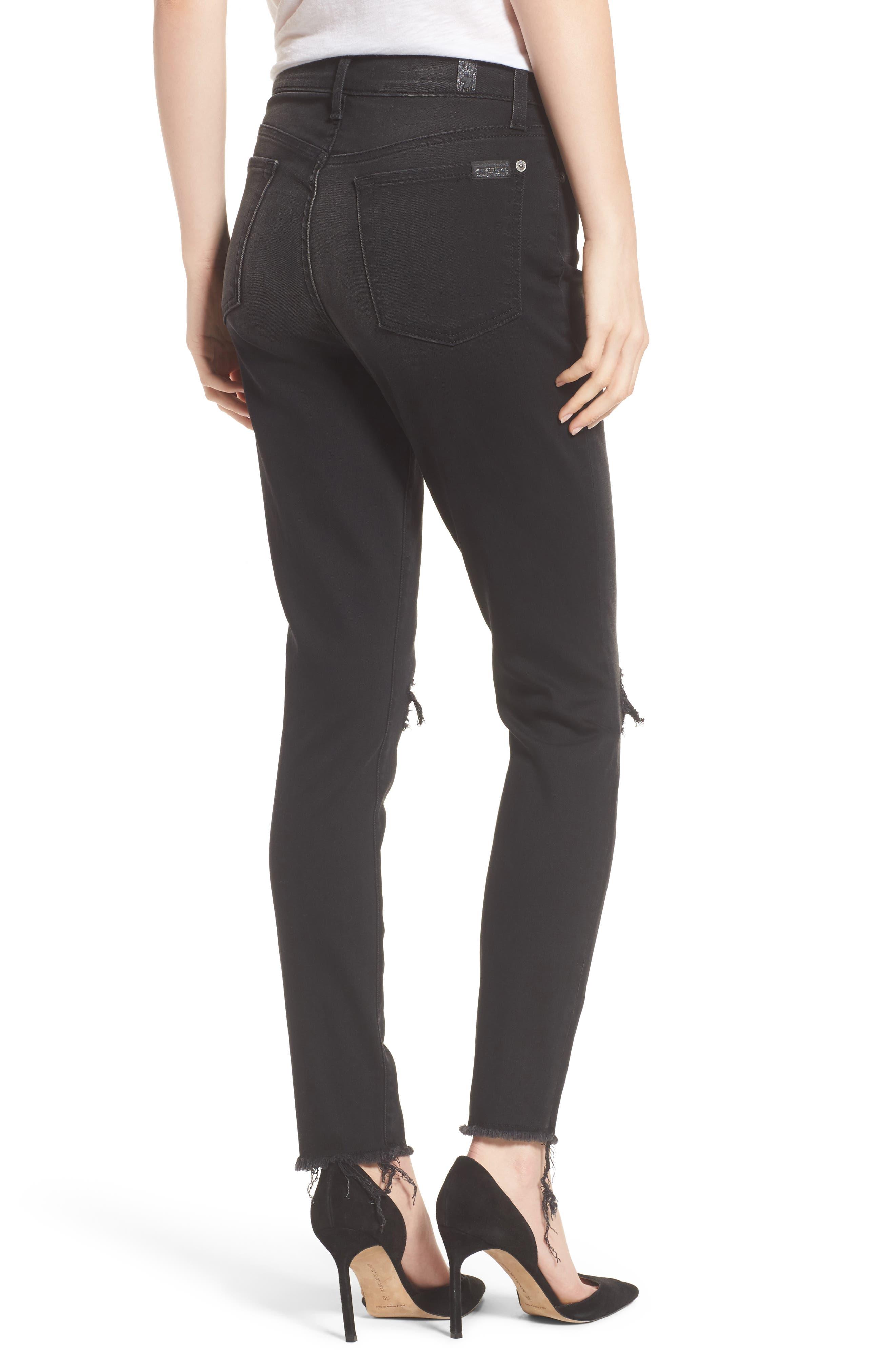 Alternate Image 2  - 7 For All Mankind® Aubrey High Waist Skinny Jeans (Aged Onyx 3)
