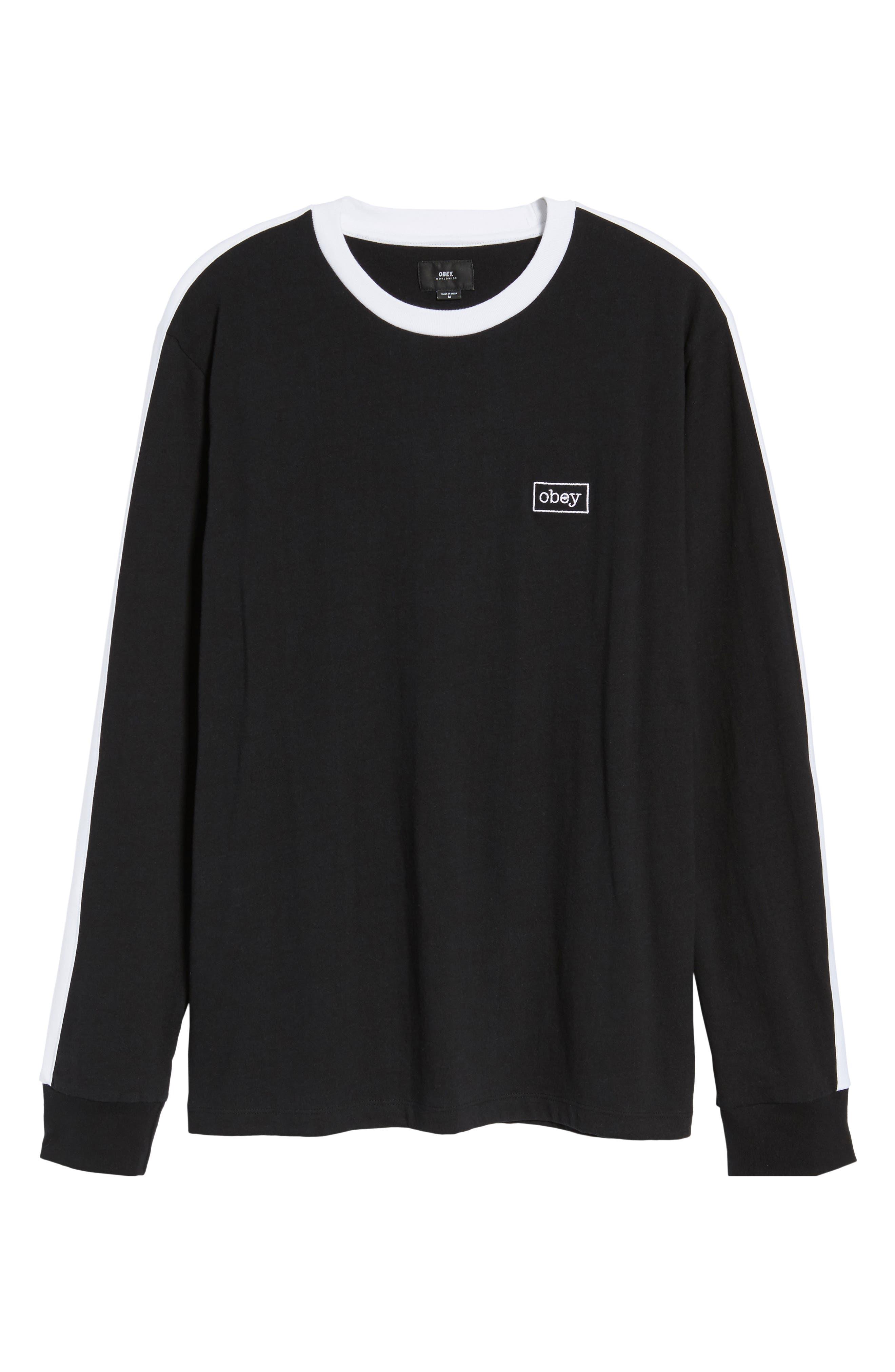 Borstal T-Shirt,                             Alternate thumbnail 6, color,                             Black