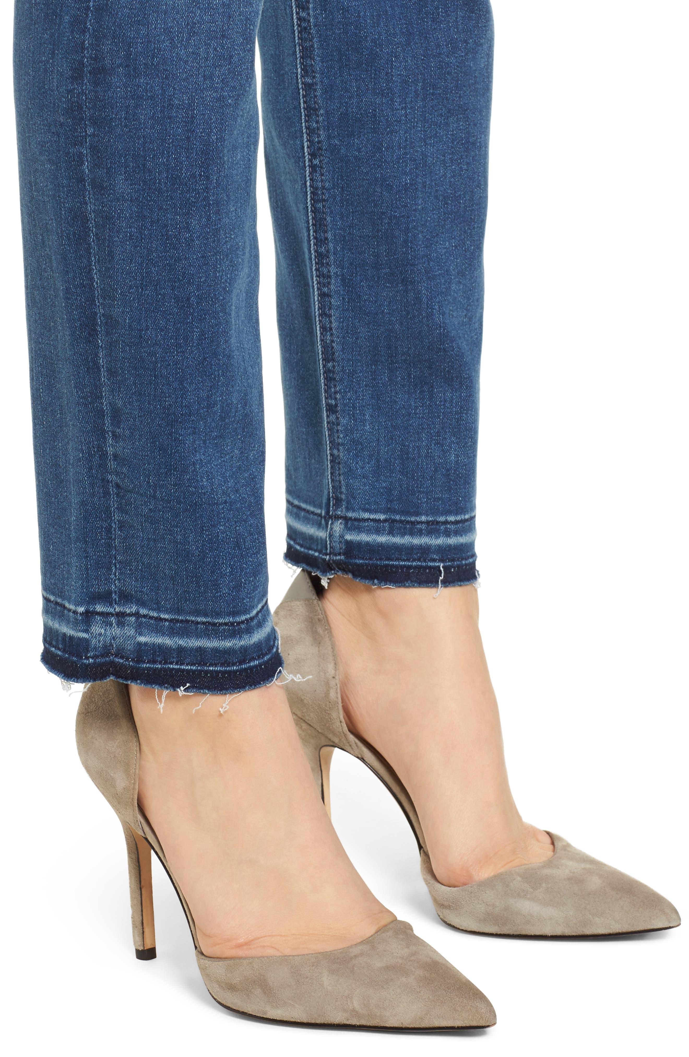 Release Hem Ankle Skinny Jeans,                             Alternate thumbnail 4, color,                             Garden City