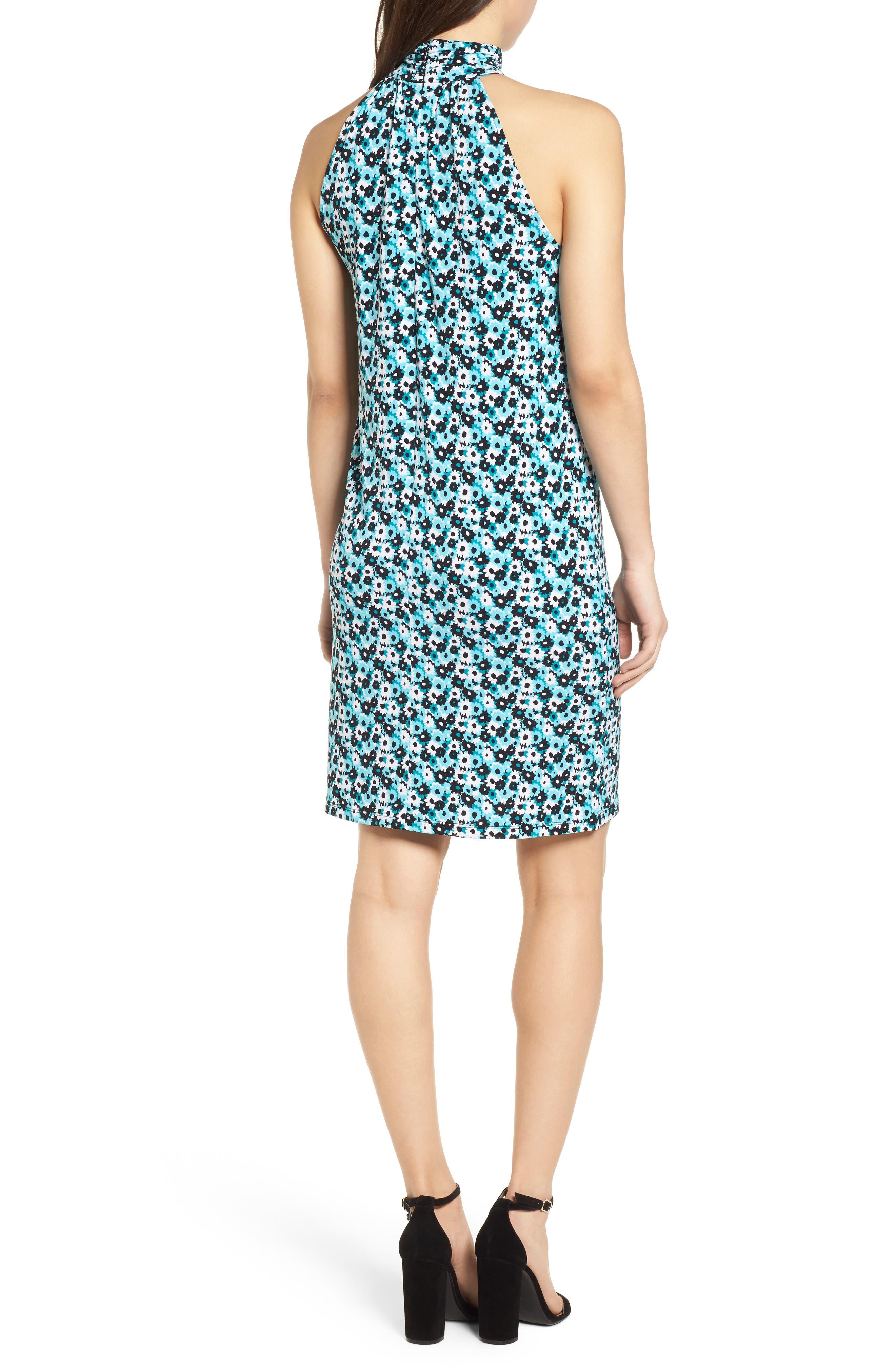 Carnation Sleeveless Dress,                             Alternate thumbnail 2, color,                             Tile Blue/ Black Multi
