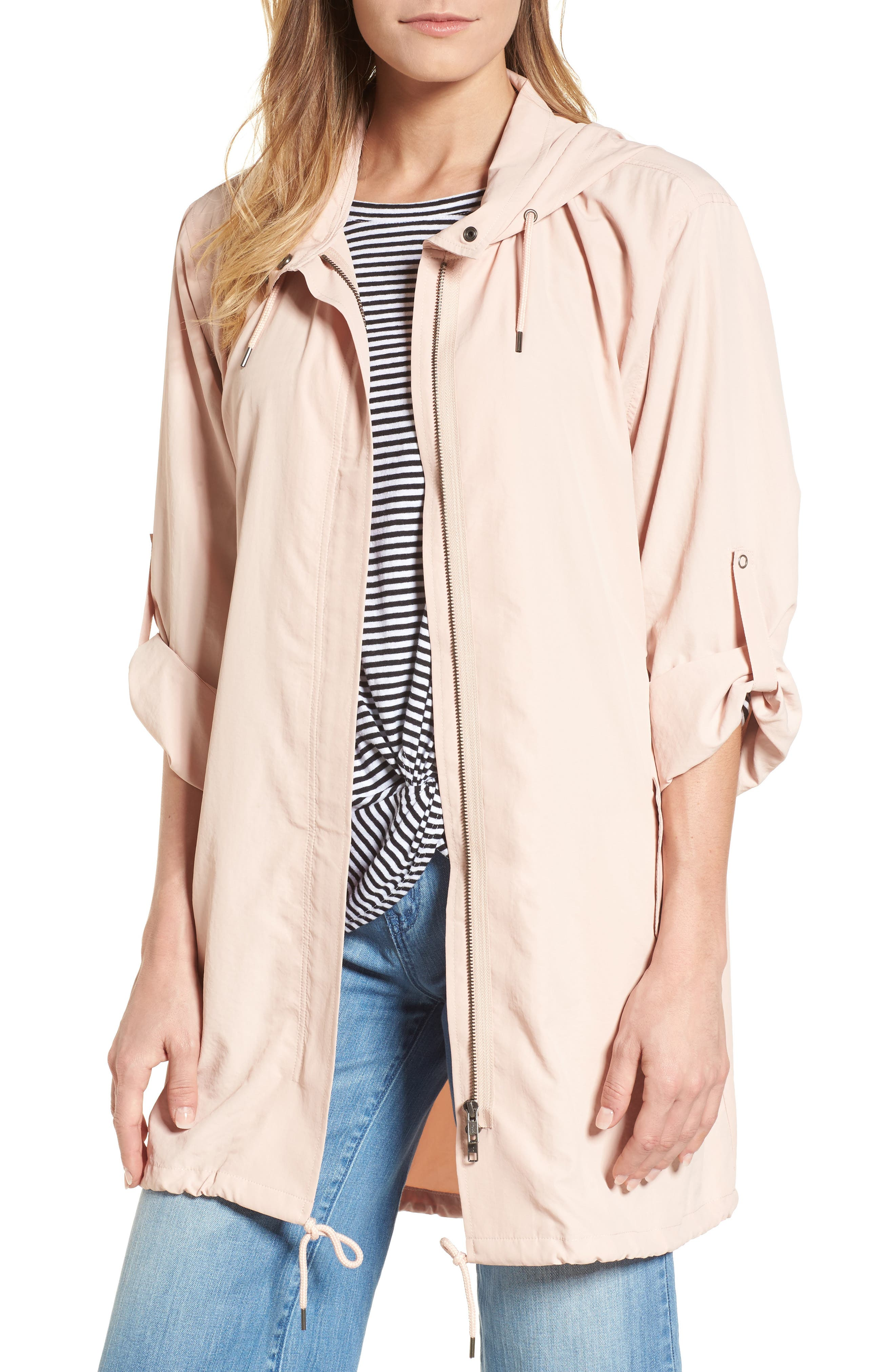 Tumbled Anorak Jacket,                         Main,                         color, Pink