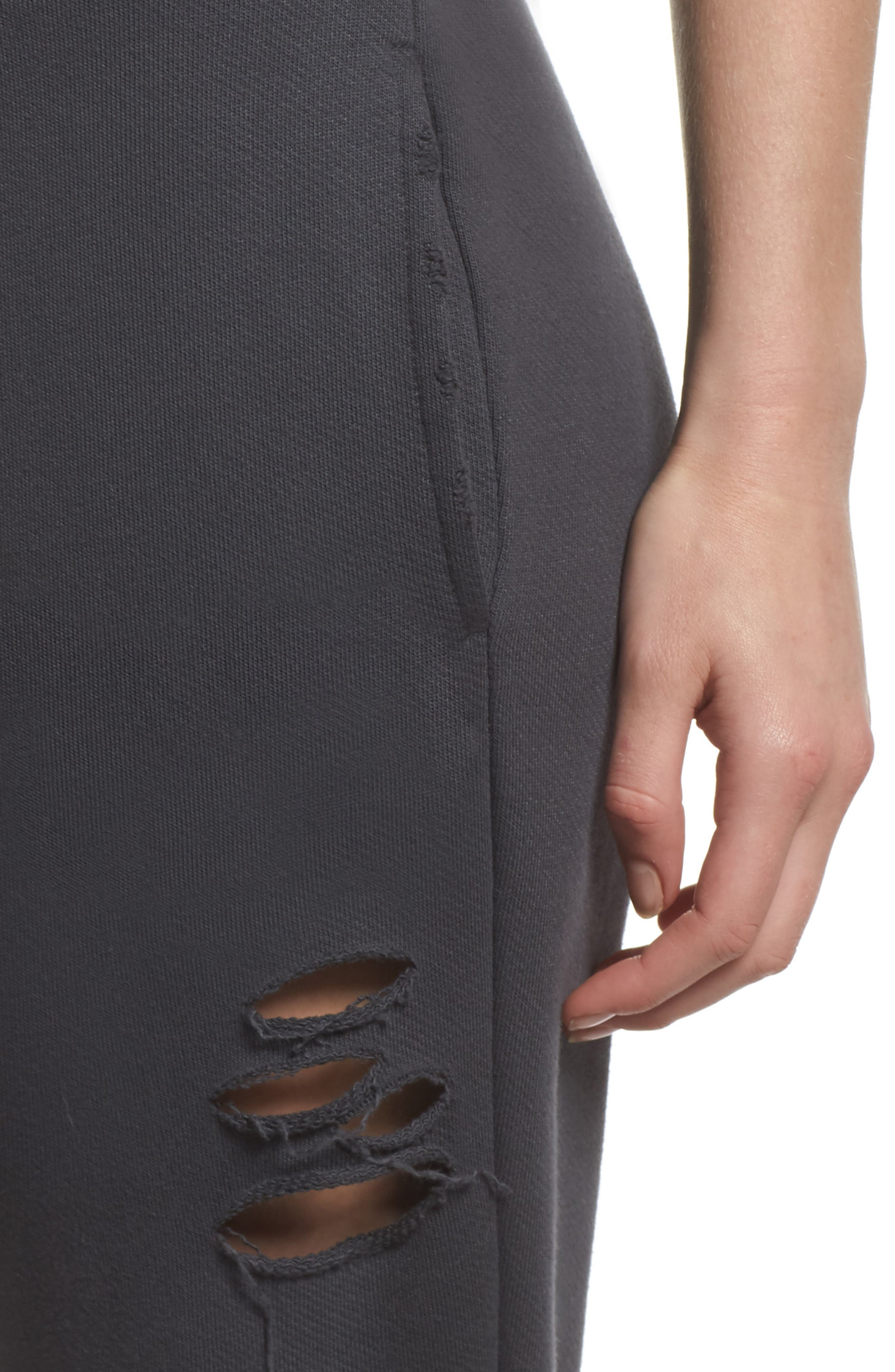 Ripped Sweatpants,                             Alternate thumbnail 4, color,                             Anthracite