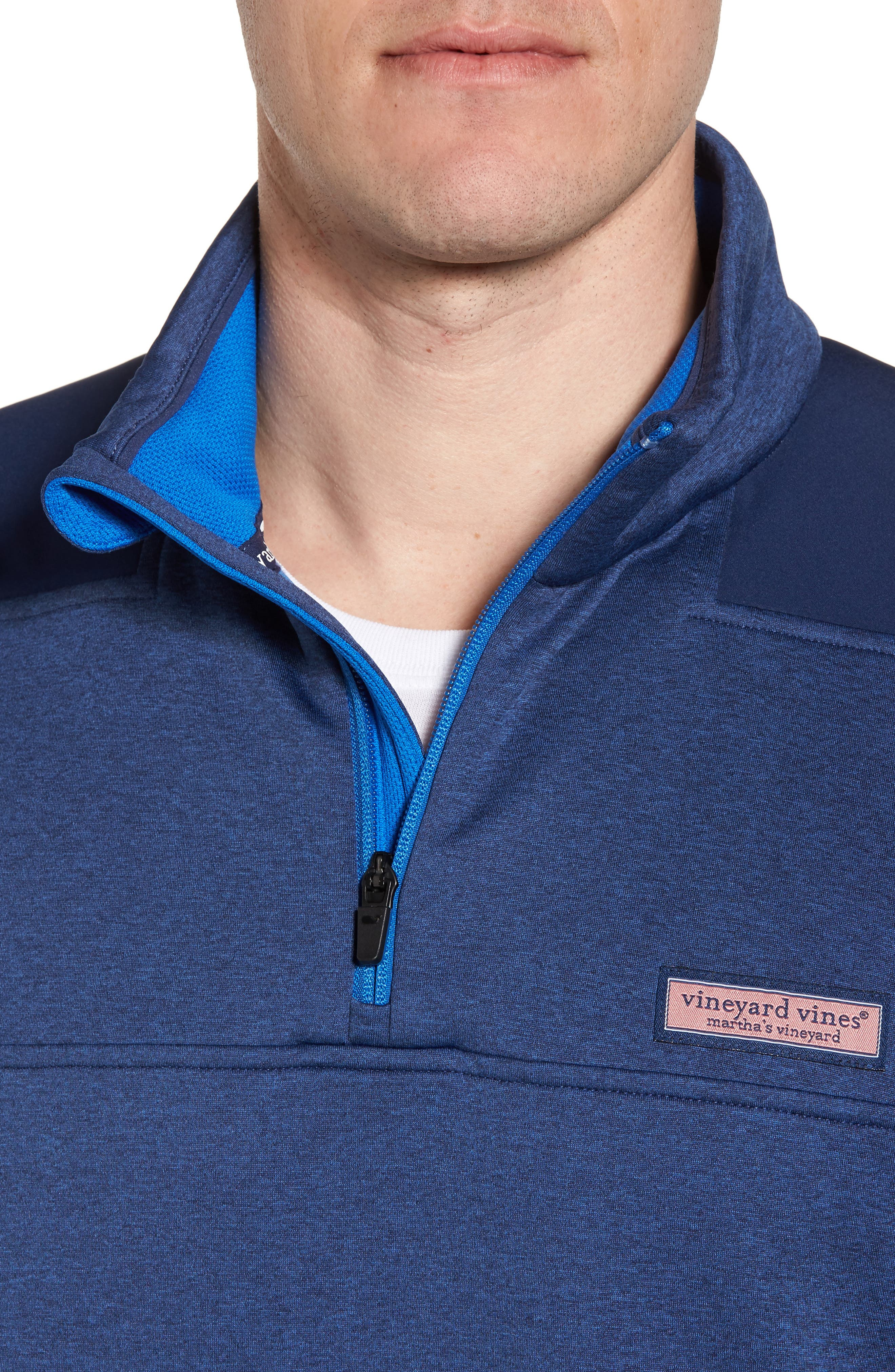 Shep Performance Fleece Quarter Zip Pullover,                             Alternate thumbnail 4, color,                             Deep Bay