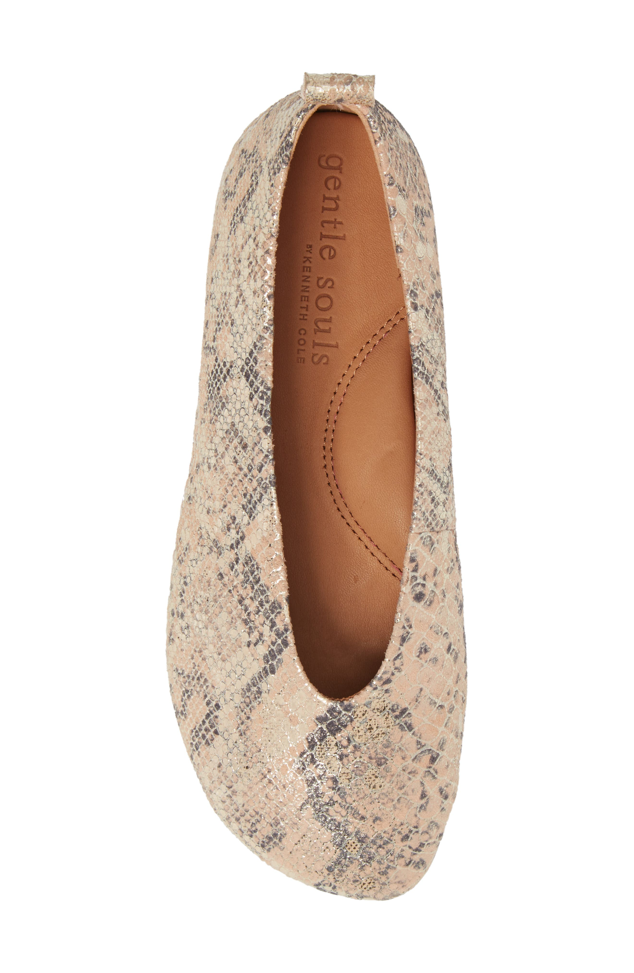 by Kenneth Cole Demi Flat,                             Alternate thumbnail 5, color,                             Rose Metallic Leather