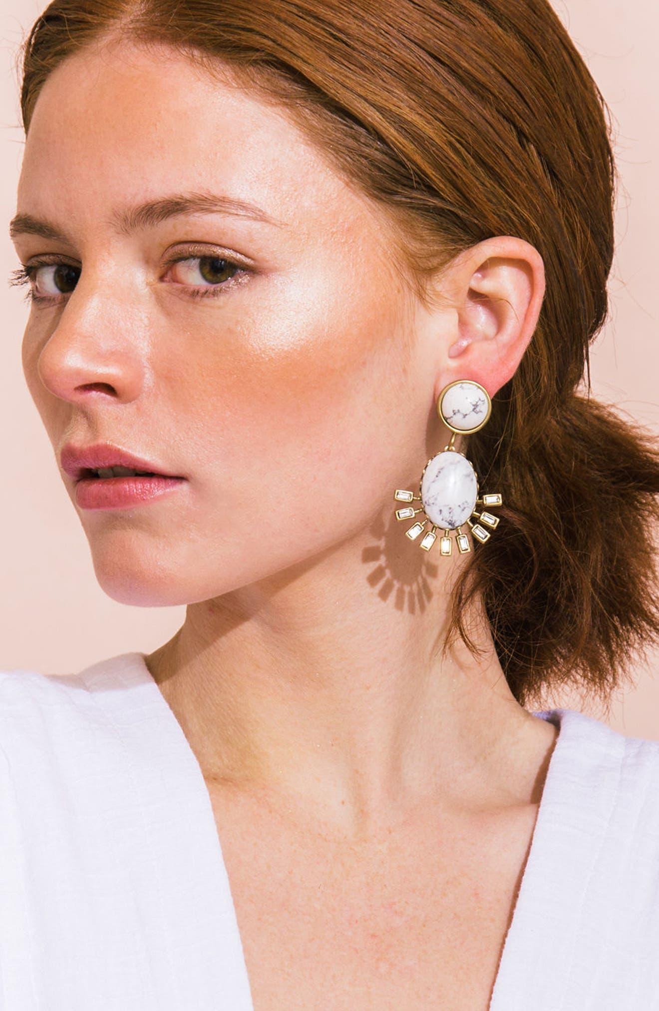 Alternate Image 3  - Loren Hope Howlite Earrings