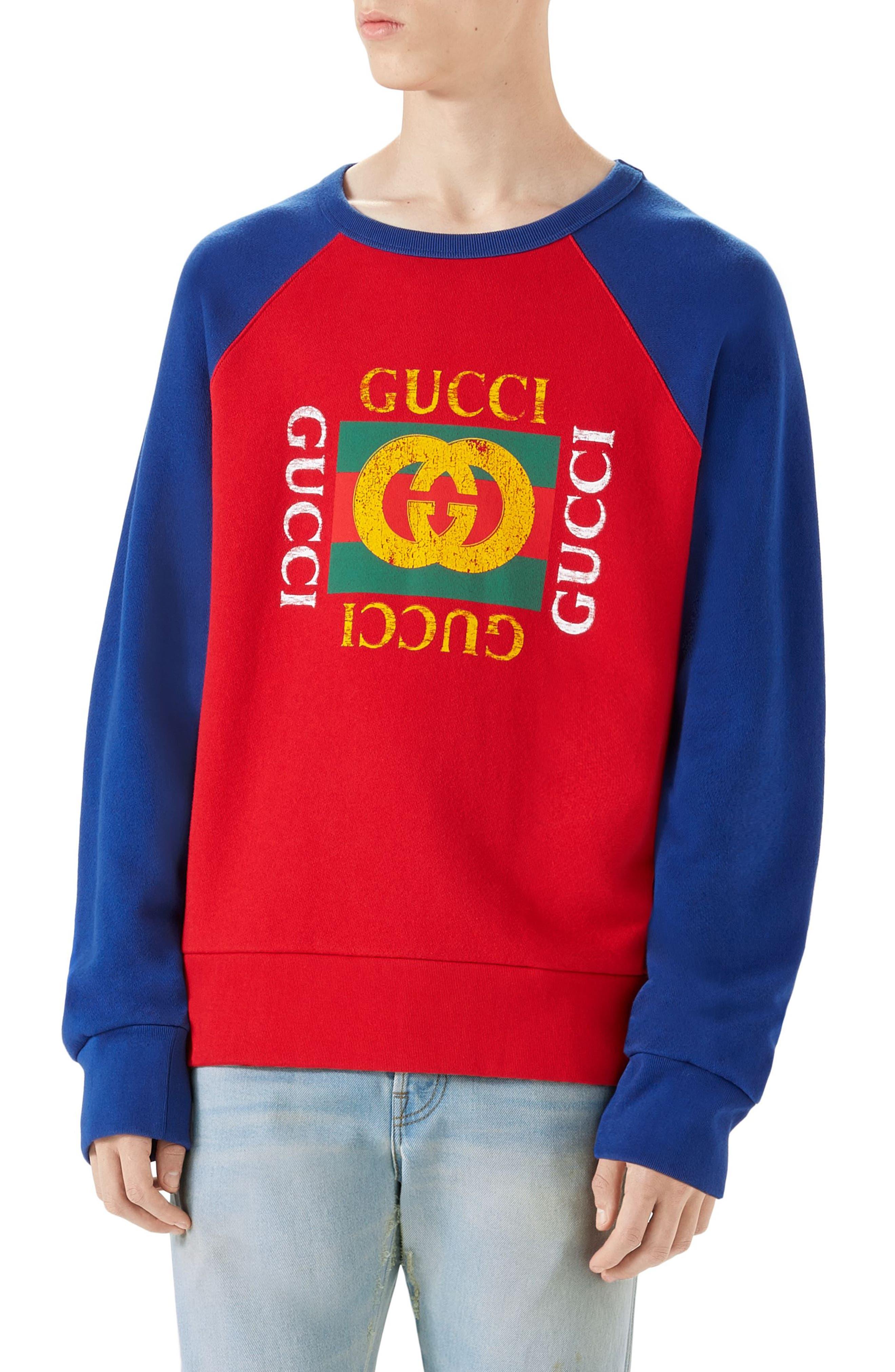 Gucci Logo Graphic Crewneck Sweatshirt