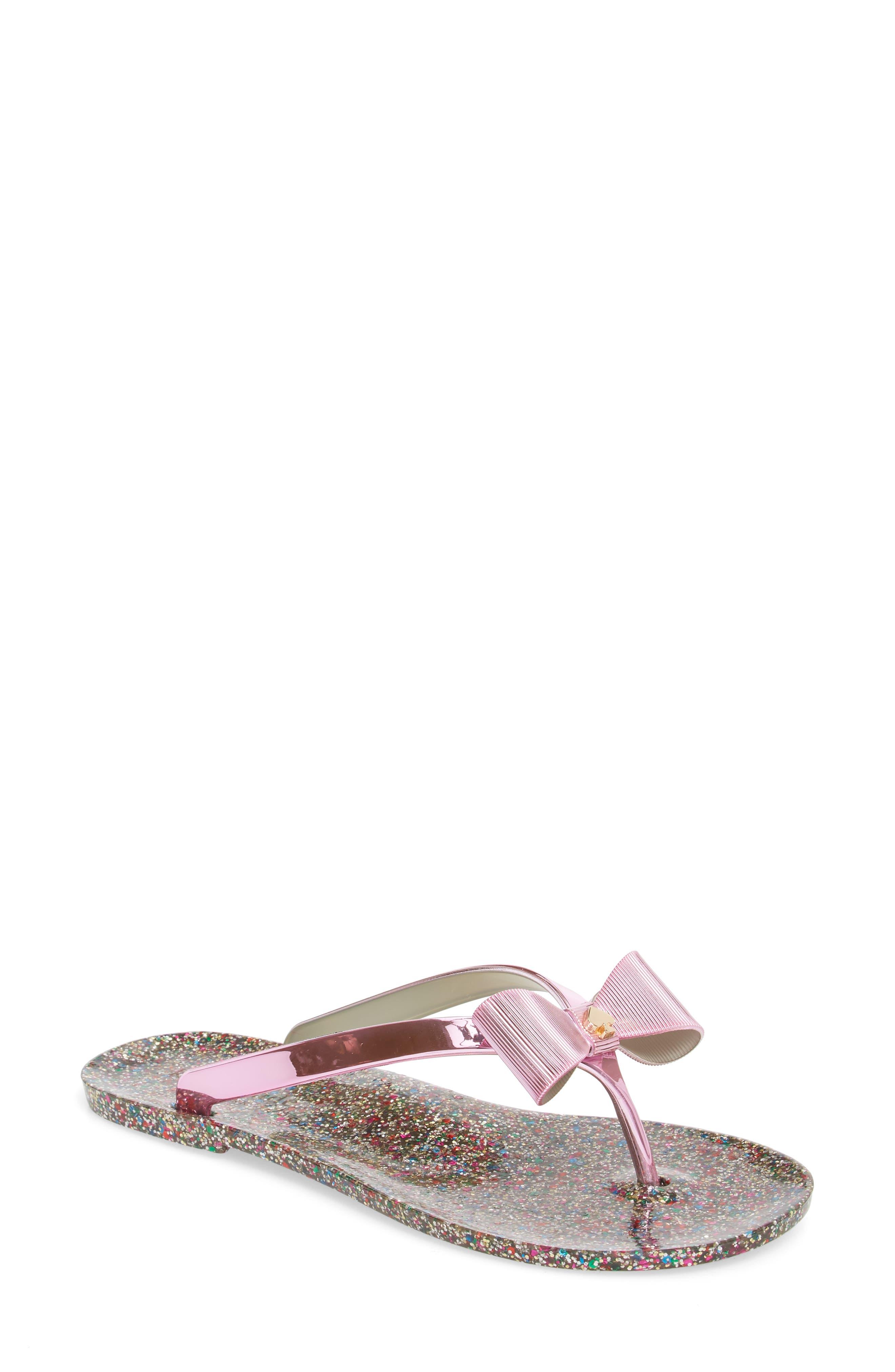 follie glitter flip flop,                             Main thumbnail 1, color,                             Fuchsia Specchio