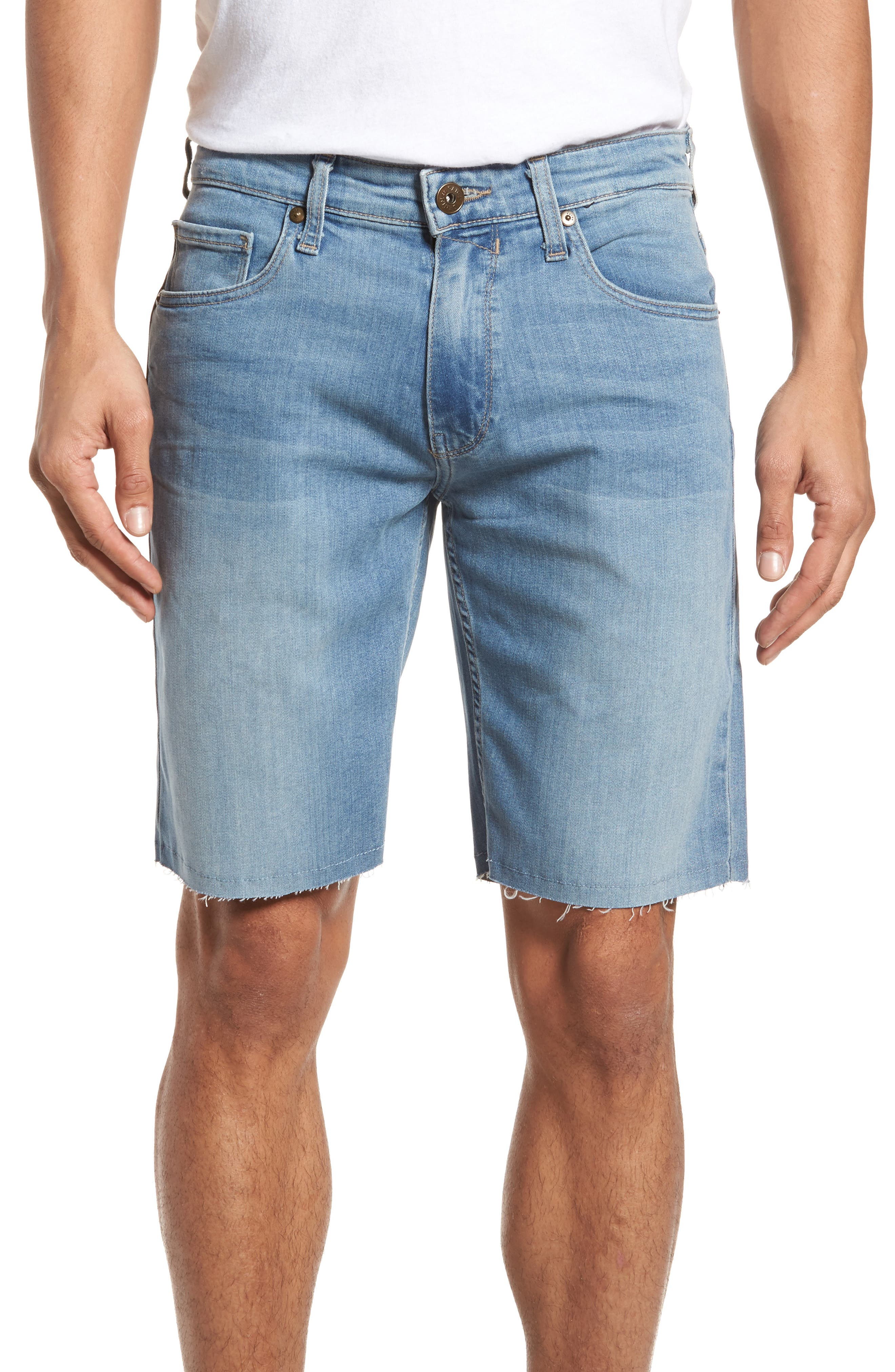 Transcend - Federal Slim Straight Leg Denim Shorts,                             Main thumbnail 1, color,                             Roller
