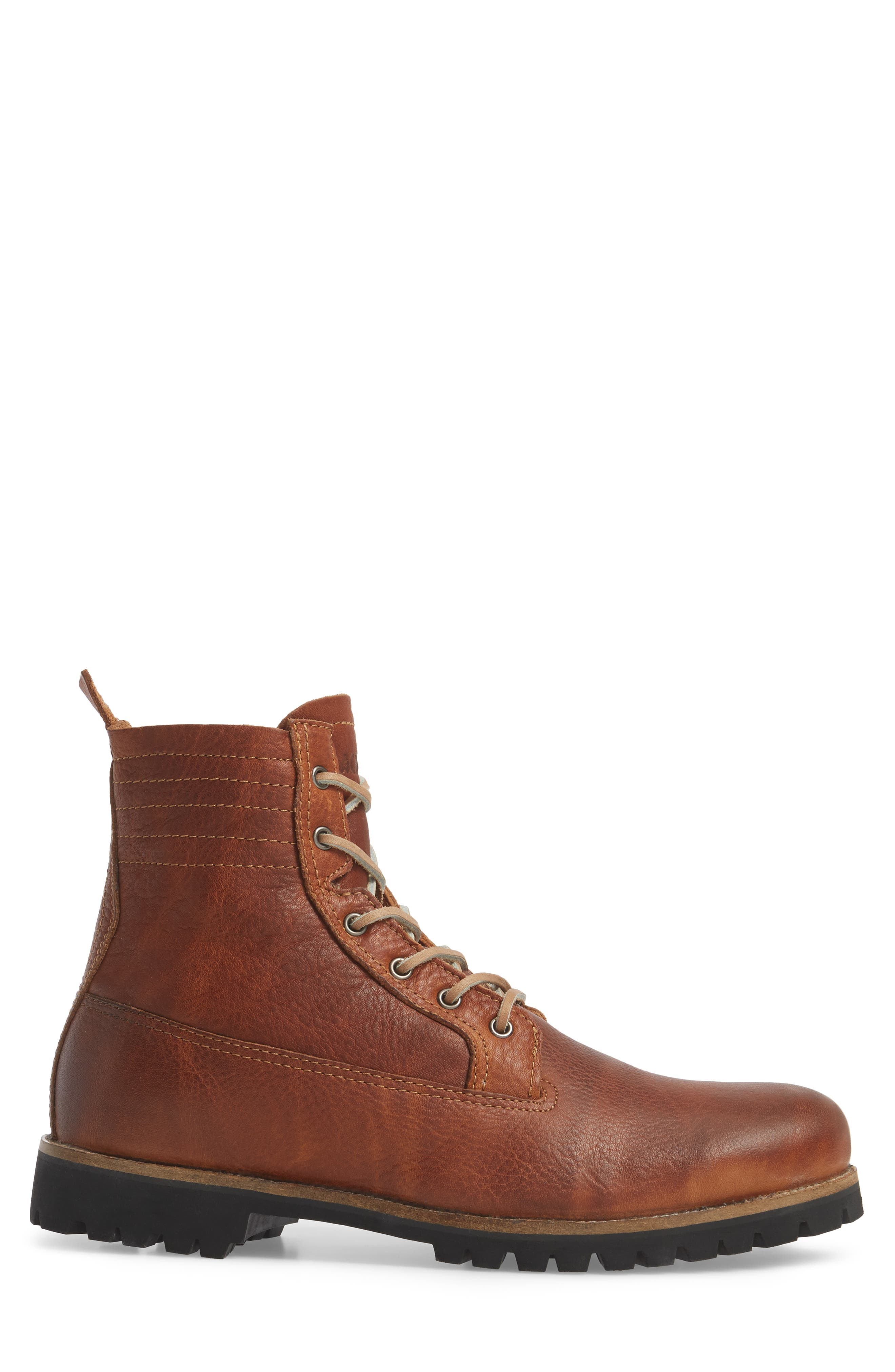 IM 12 Plain Toe Boot with Genuine Shearling,                             Alternate thumbnail 3, color,                             Cuoio Leather