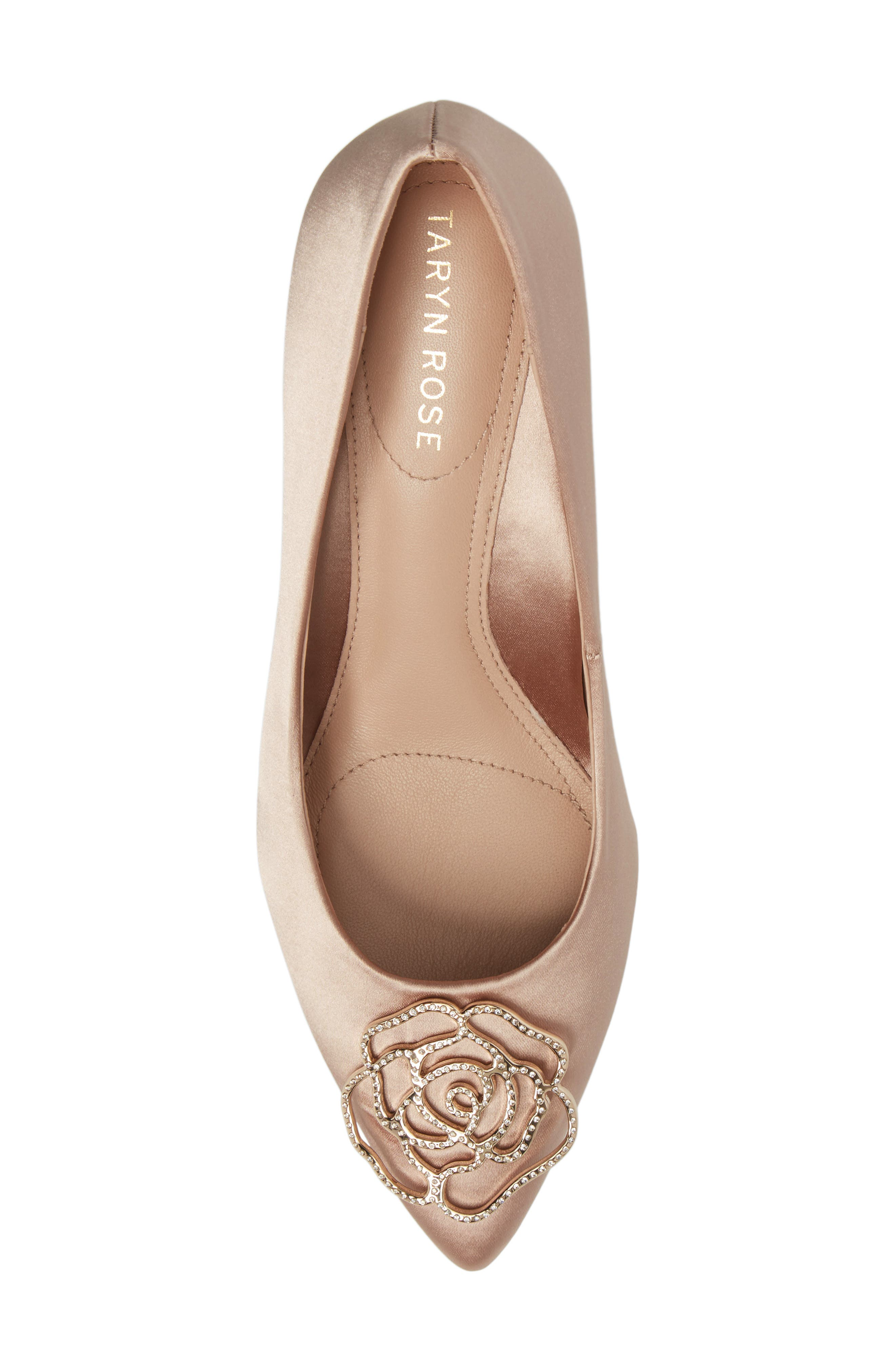 Maci Pump,                             Alternate thumbnail 5, color,                             Blush Satin Fabric