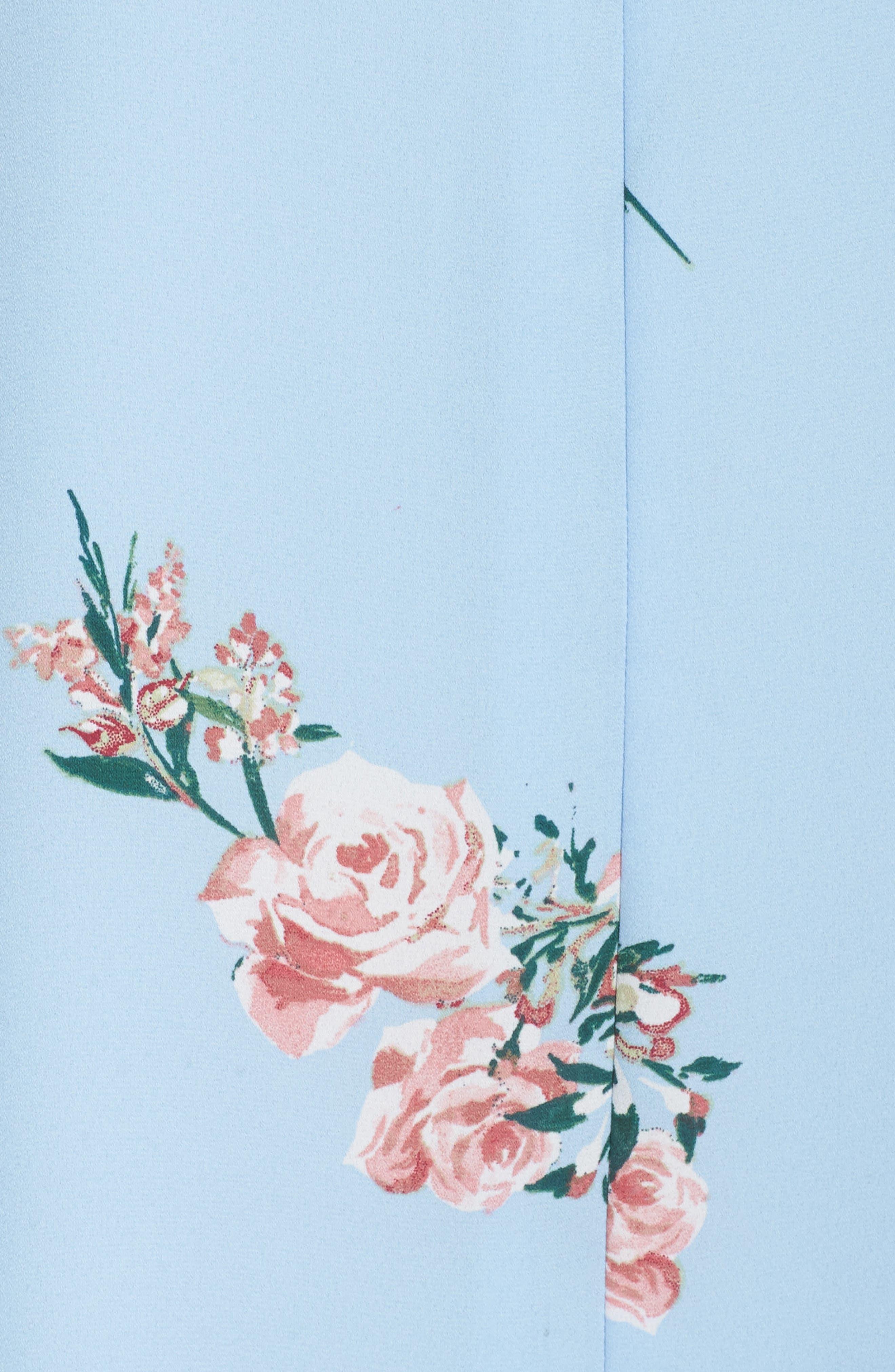 Floral Shift Dress,                             Alternate thumbnail 5, color,                             Blue Floral