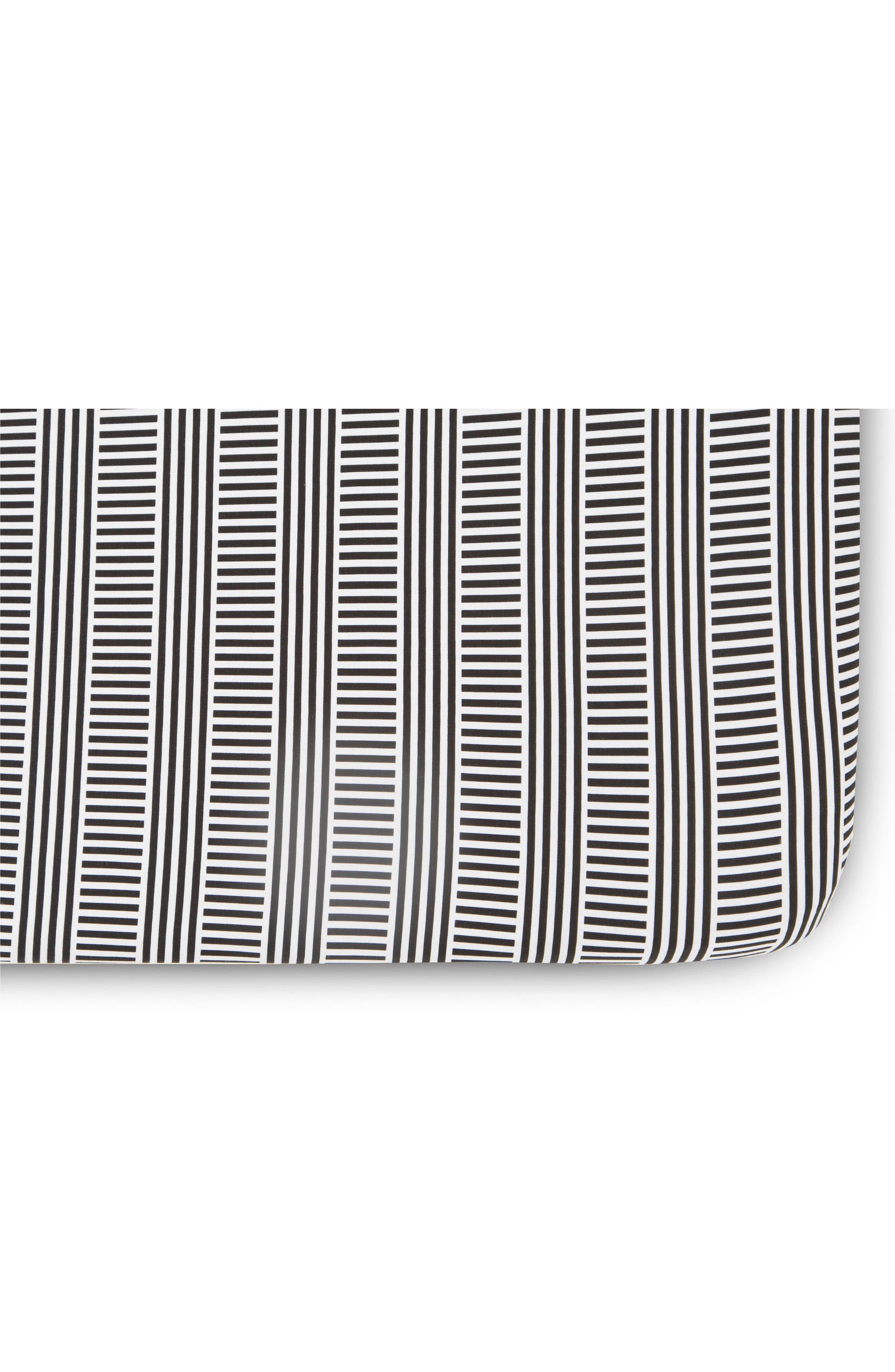 Black/White Mosi 2-Pack Jersey Crib Sheets,                             Alternate thumbnail 3, color,                             Black And White