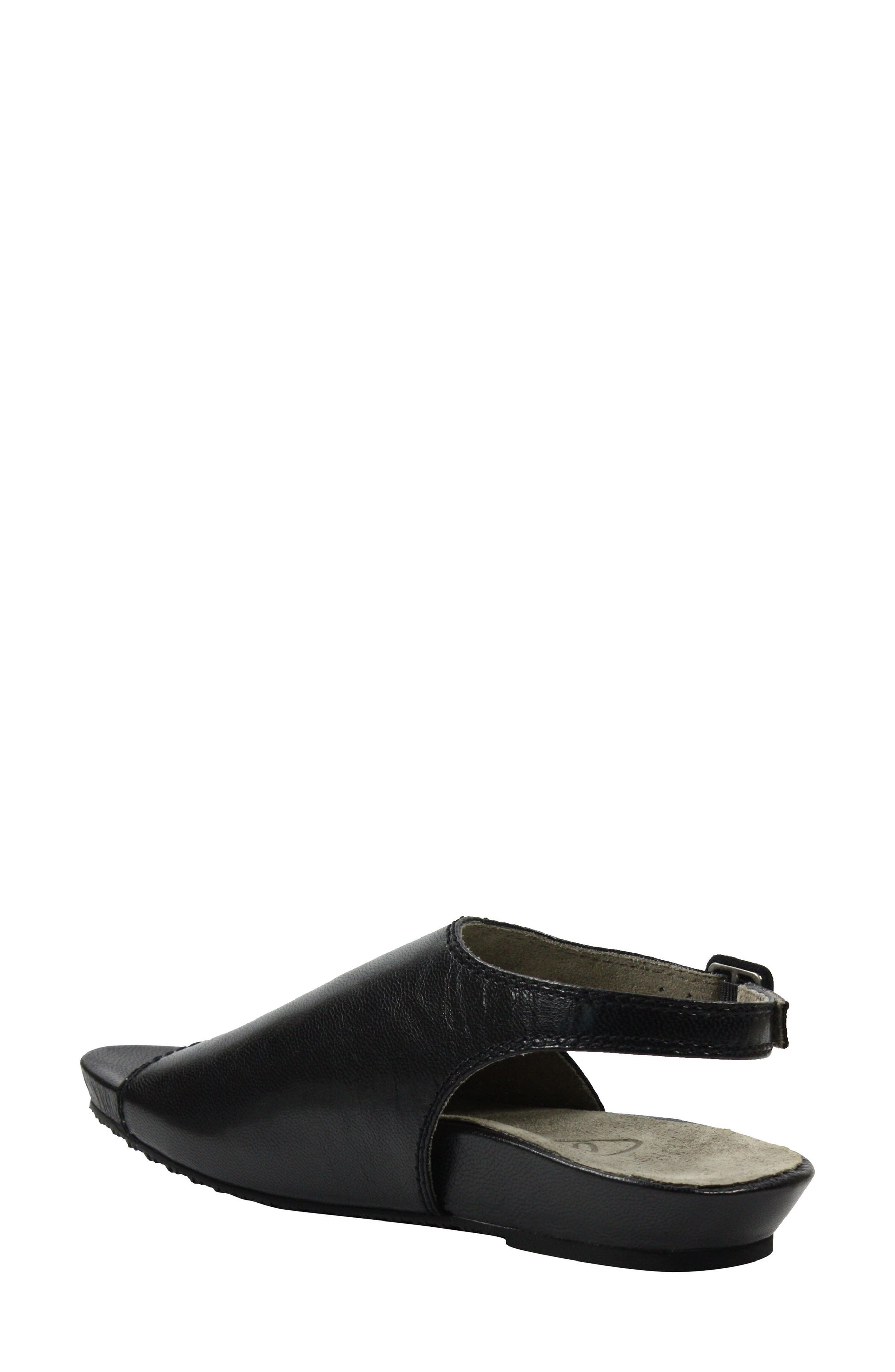 Dalenna Ankle Strap Sandal,                             Alternate thumbnail 2, color,                             Black Leather