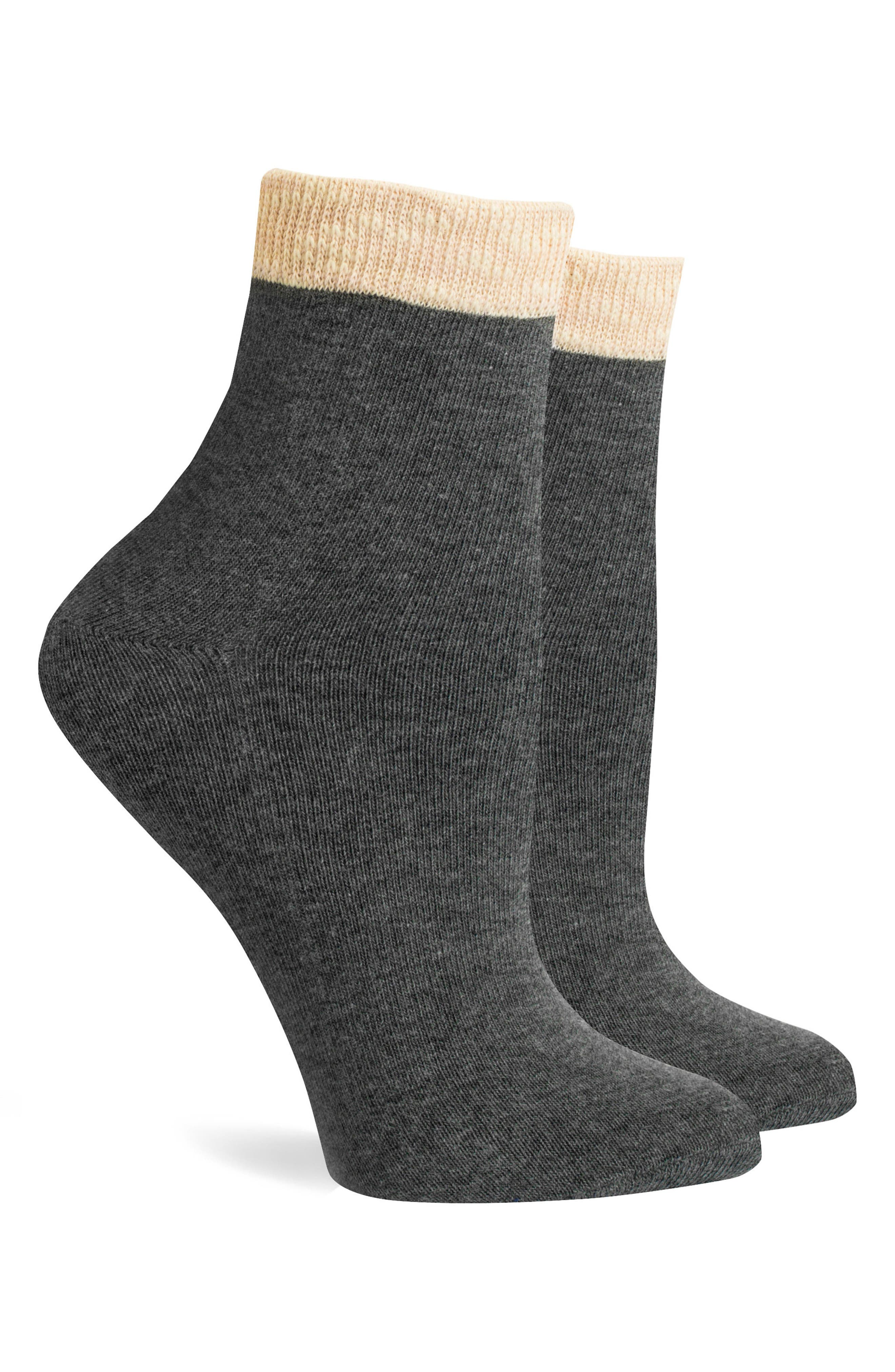 Ivy Ankle Socks,                             Alternate thumbnail 2, color,                             Charcoal