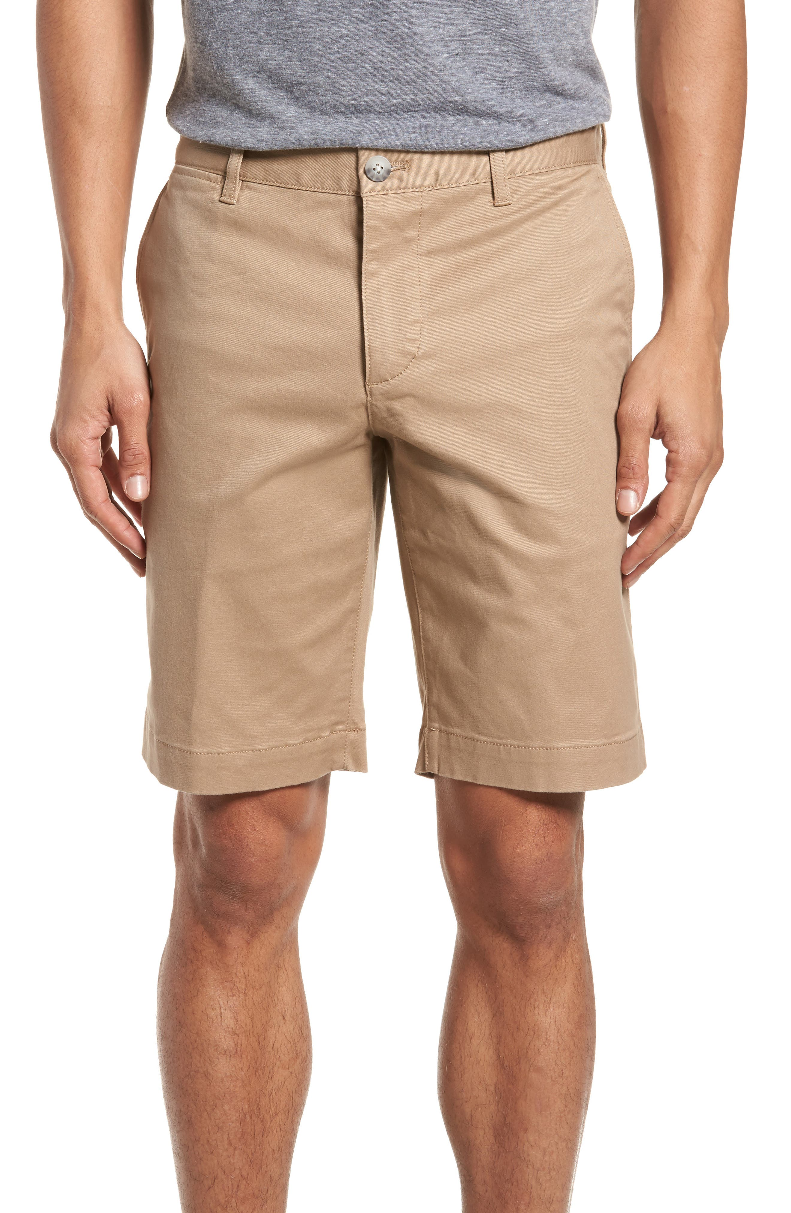 Slim Fit Chino Shorts,                         Main,                         color, Kraft Beige