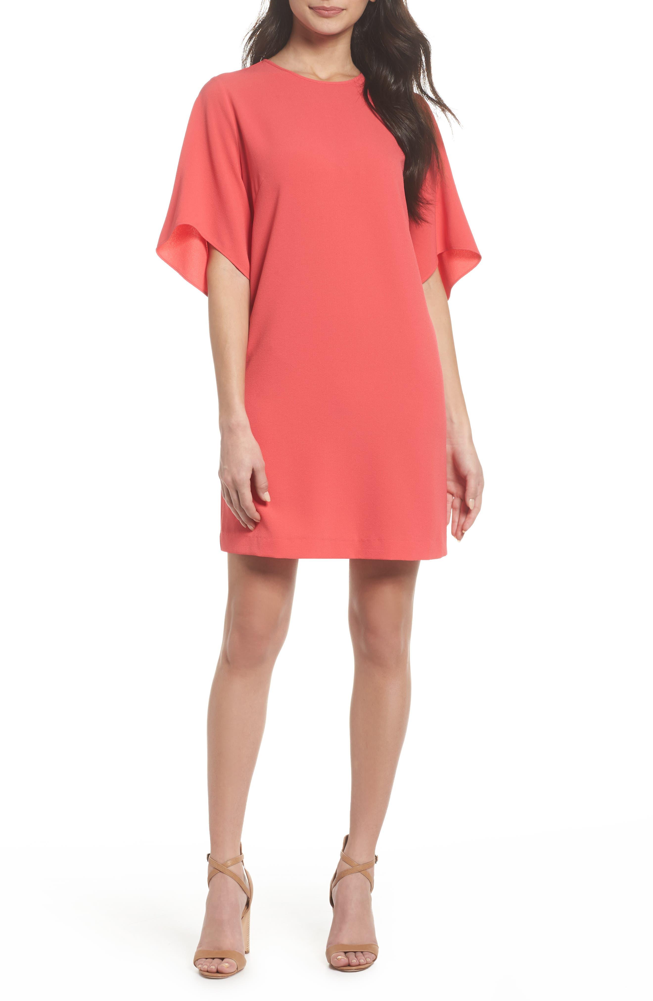 Tor Shift Dress,                         Main,                         color, Geranium