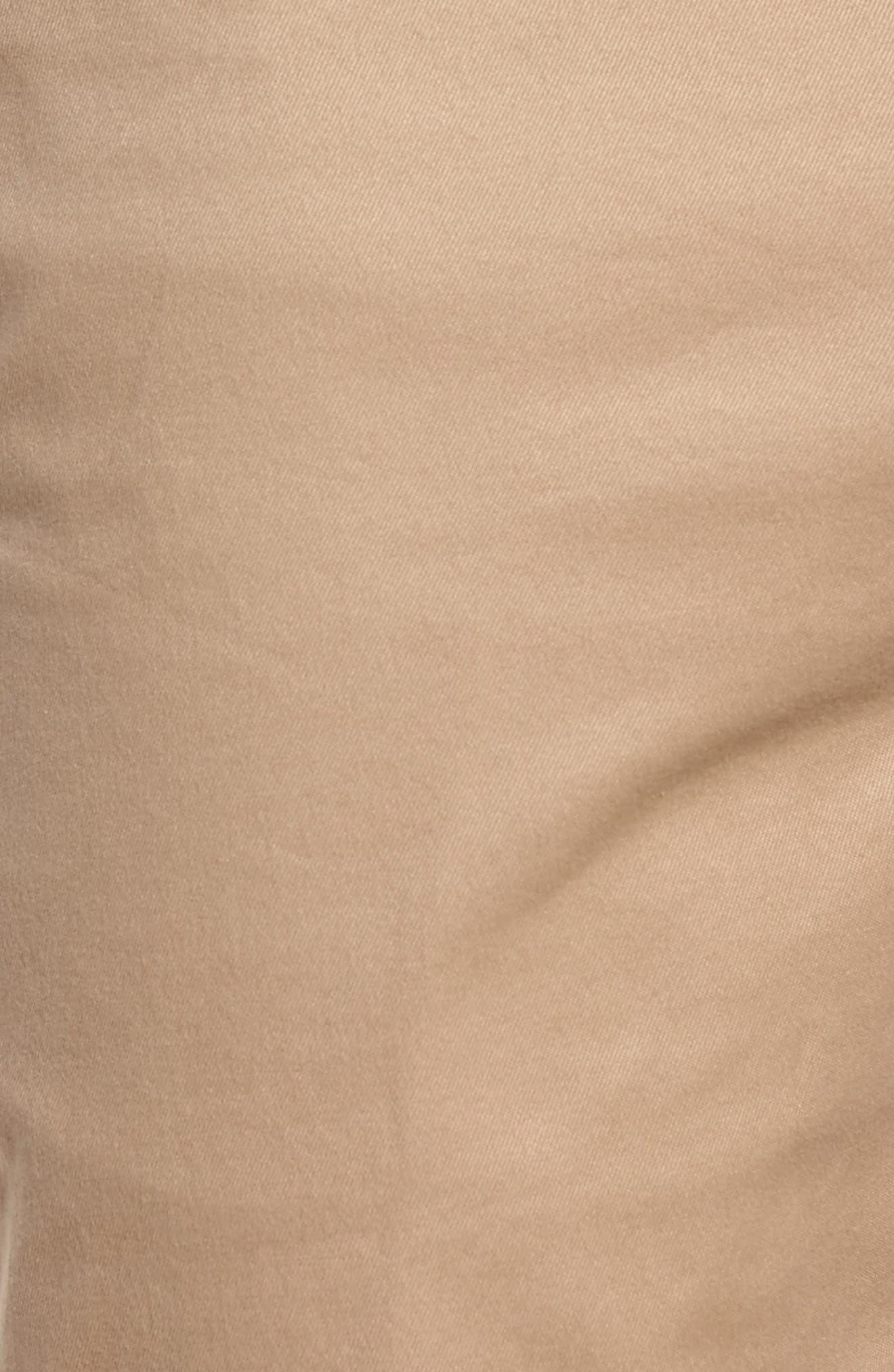 Slim Fit Chino Shorts,                             Alternate thumbnail 5, color,                             Kraft Beige