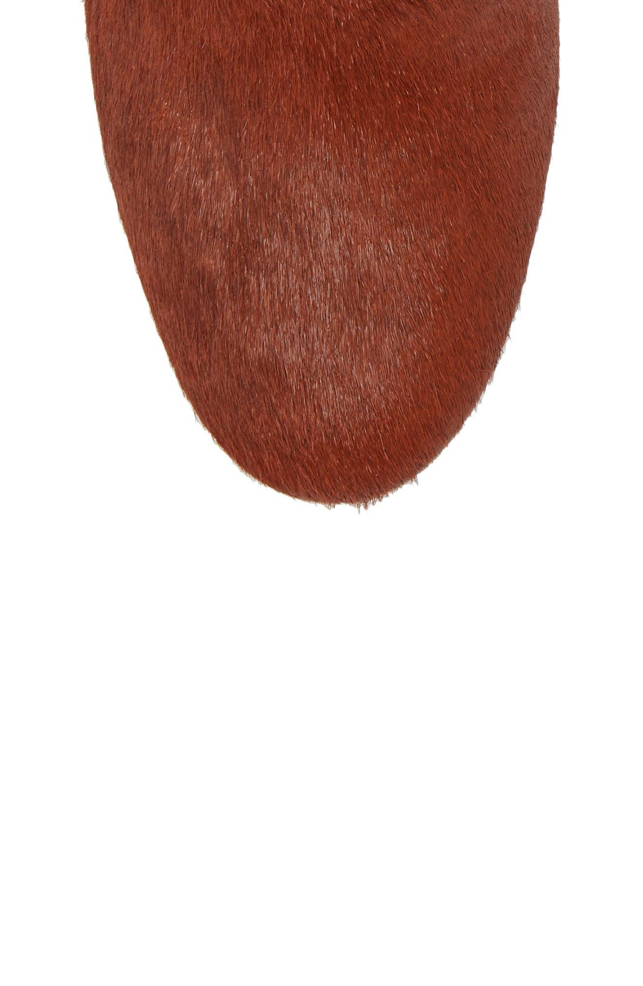 Cassidy Genuine Calf Hair Block Heel Bootie,                             Alternate thumbnail 5, color,                             Terracotta Calf Hair