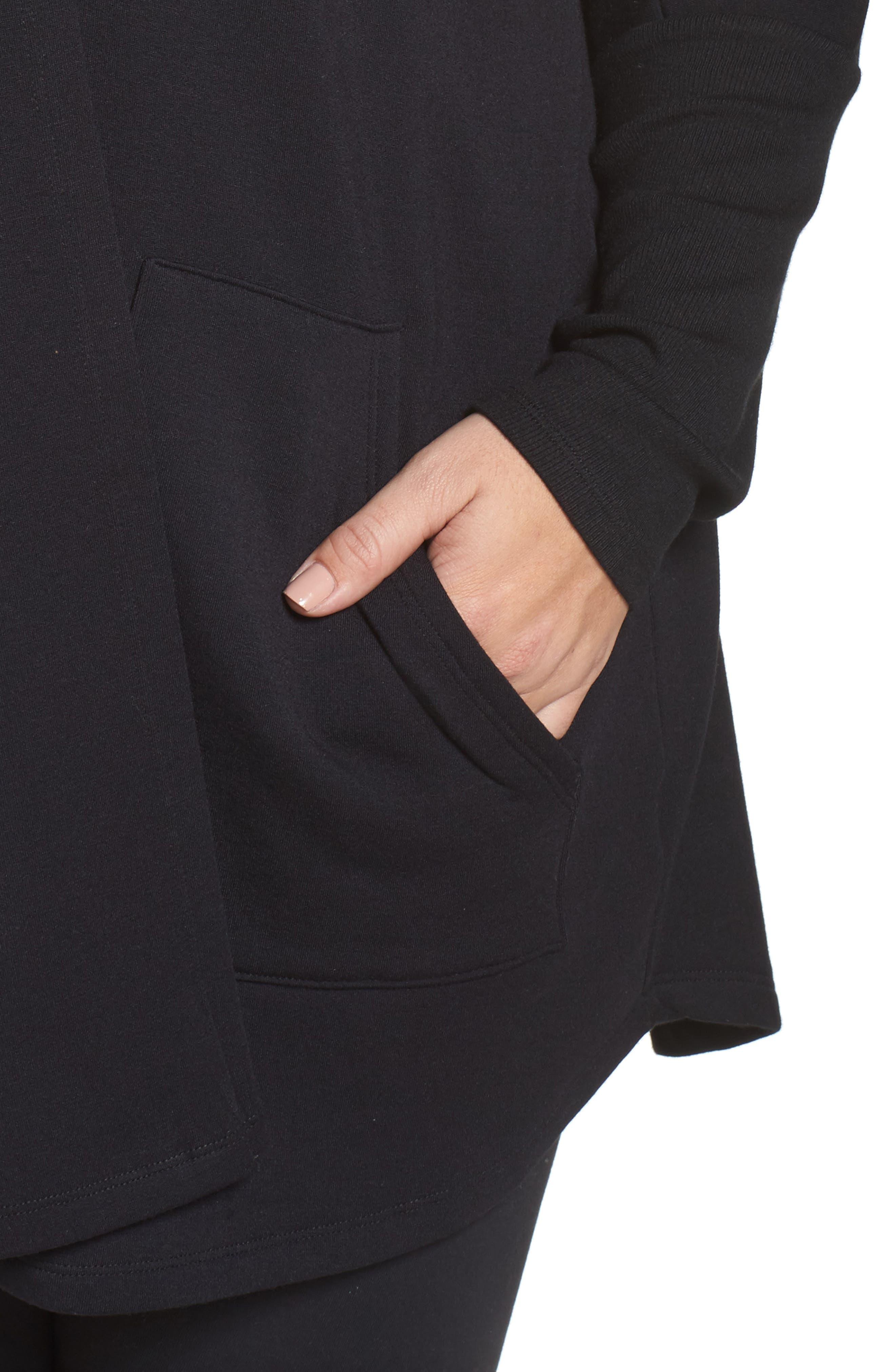 Alternate Image 4  - Beyond Yoga Love & Fleece Split-Back Hooded Cardigan (Plus Size)