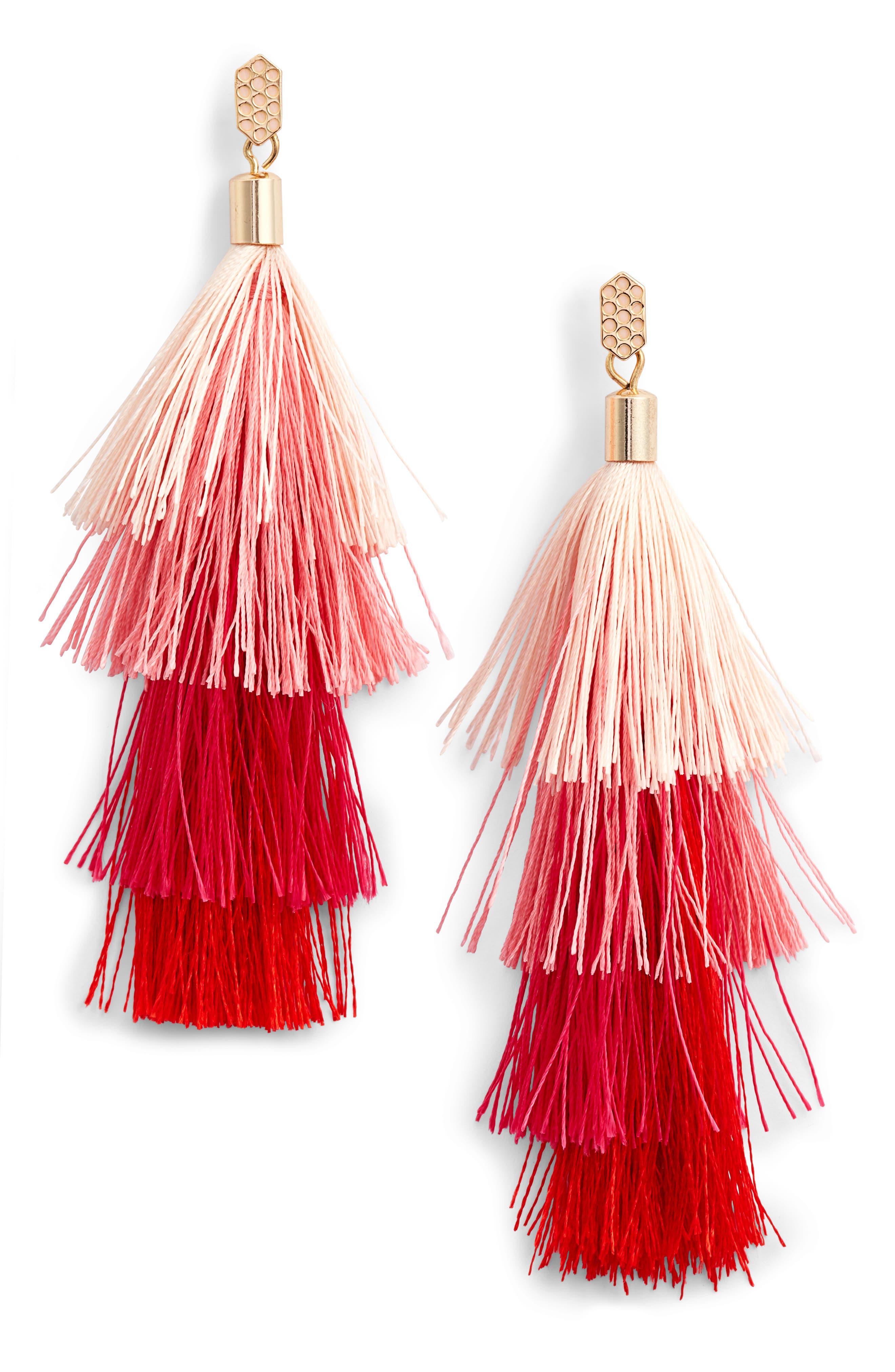 Rebecca Minkoff Stacked Tassel Earrings Lowest Price