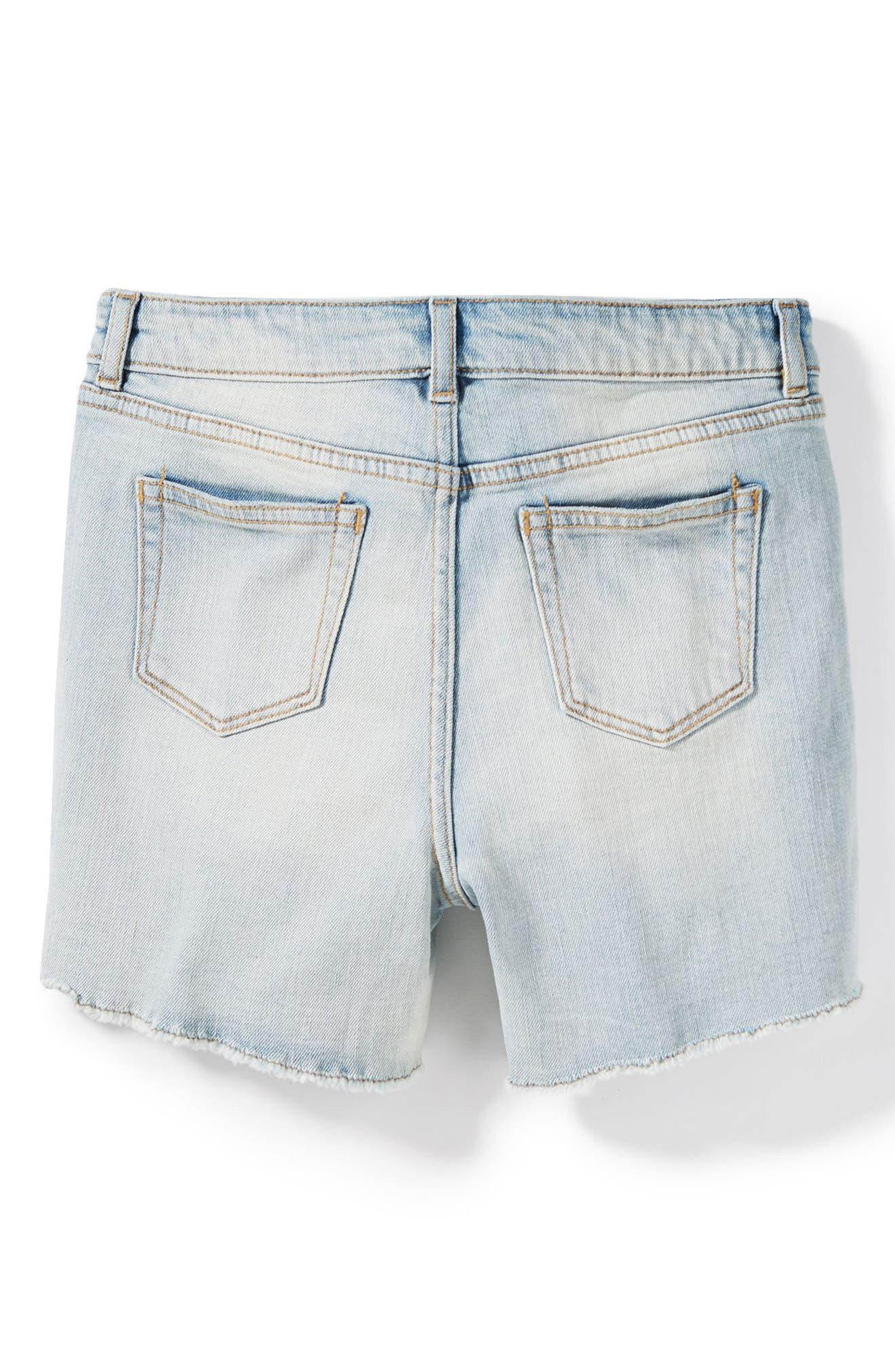Griffin Rip & Repair Cutoff Denim Shorts,                             Alternate thumbnail 2, color,                             Bleach
