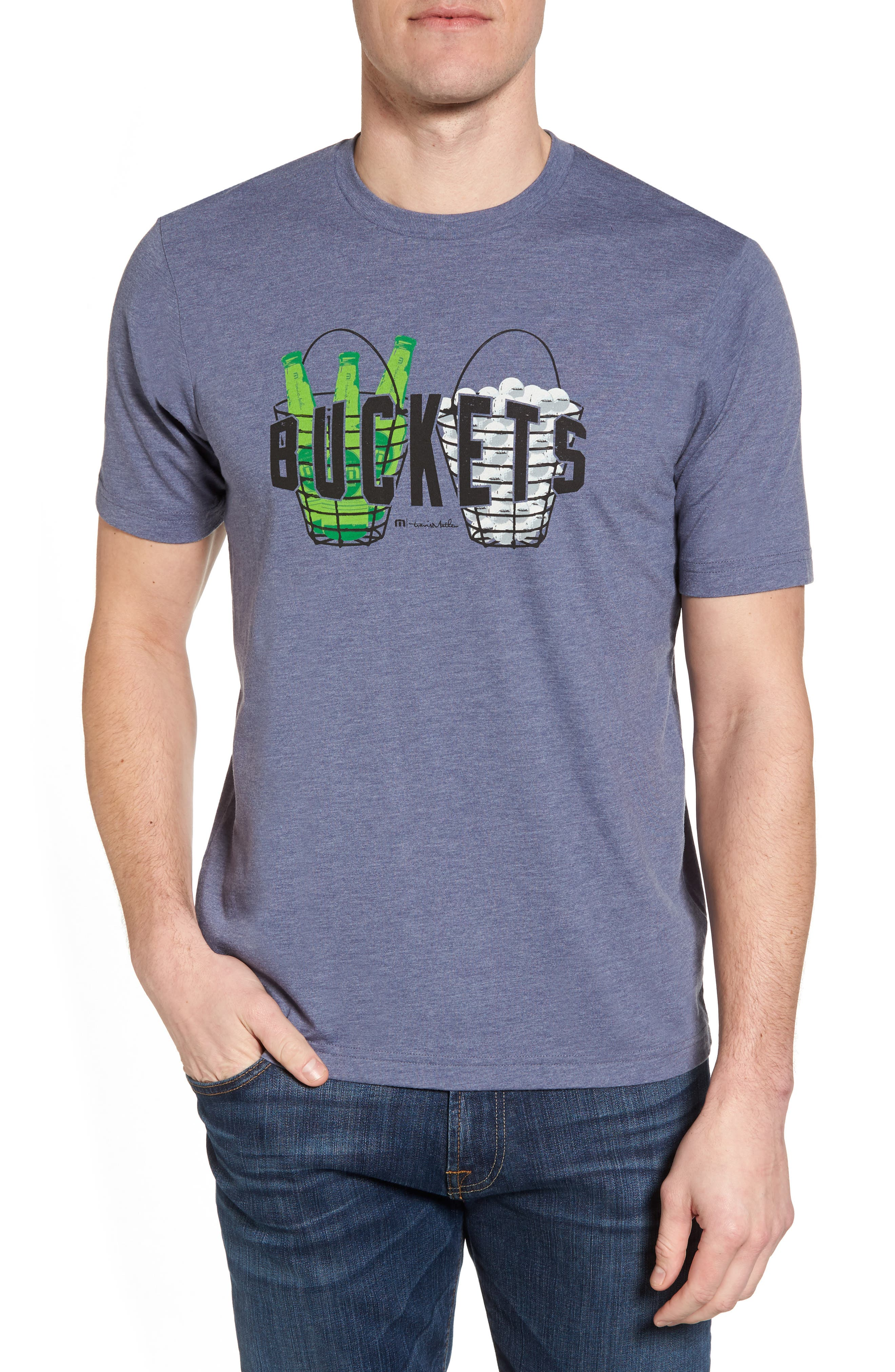 'Buckets' Graphic T-Shirt,                         Main,                         color, Heather Blue Nights