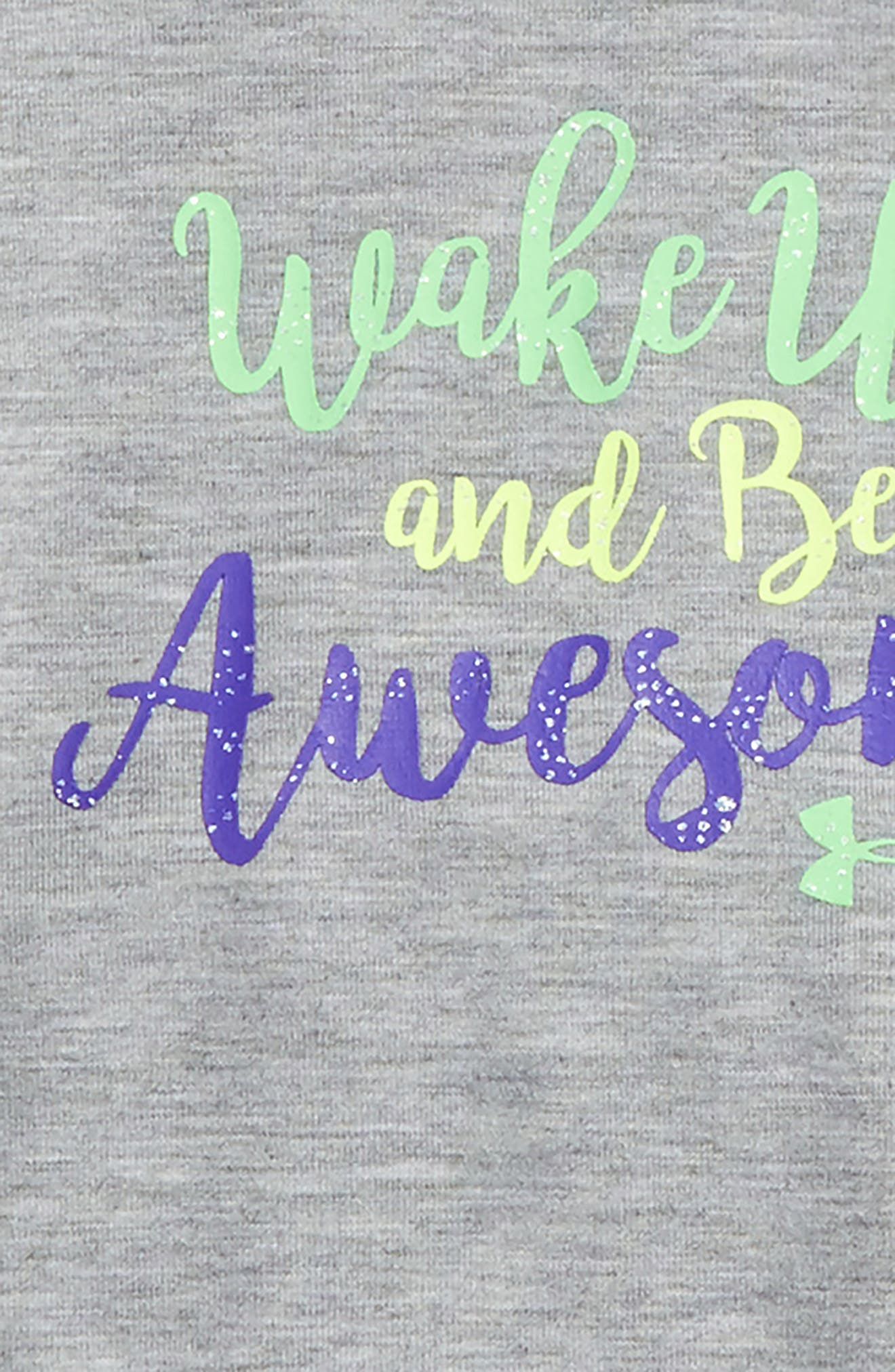 Wake Up & Be Awesome Tee & Leggings Set,                             Alternate thumbnail 2, color,                             True Grey Heather