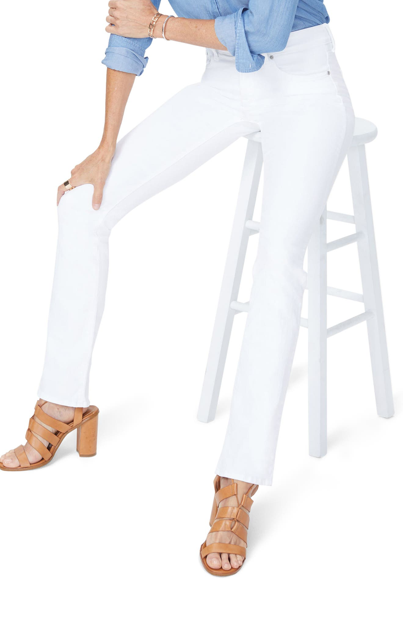 NYDJ Billie Mini Bootcut Jeans (Optic White)