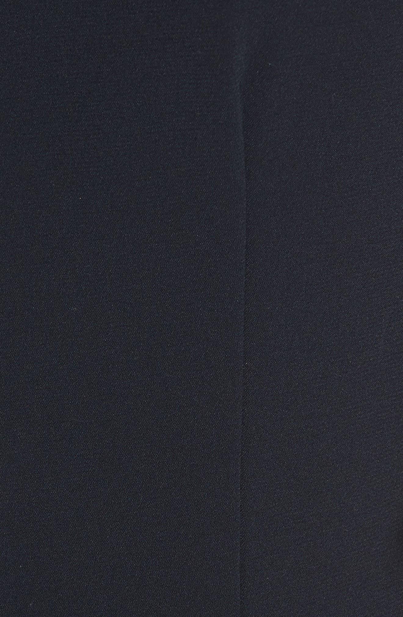 Fringe Flare Hem Sheath Dress,                             Alternate thumbnail 5, color,                             Navy