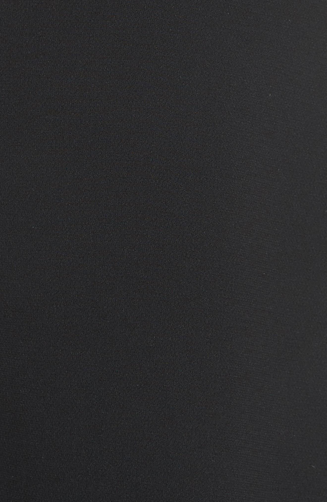 Admiral Crepe Tie Back Dress,                             Alternate thumbnail 5, color,                             Black