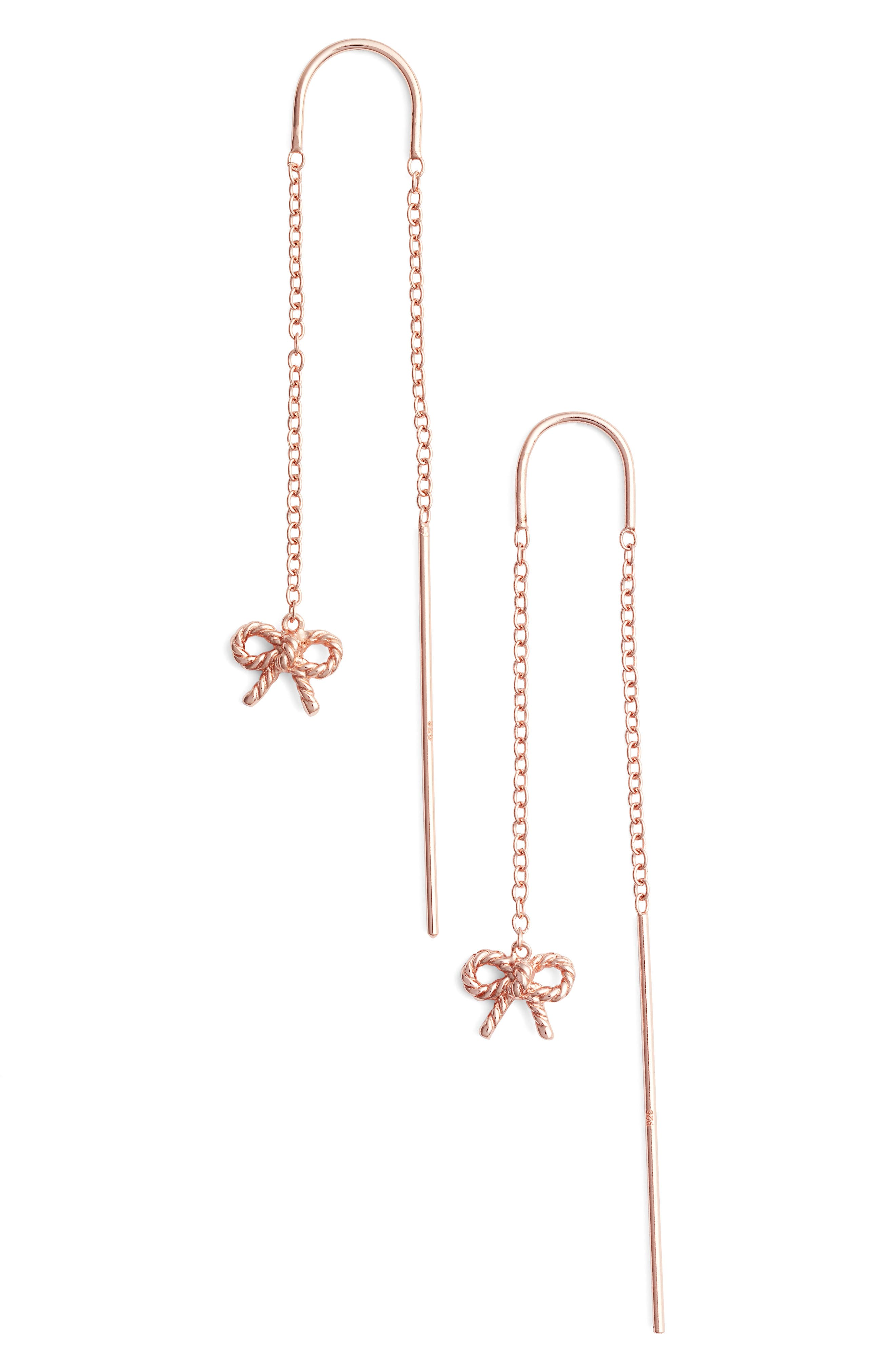 Olivia Burton Vintage Bow Threader Earrings
