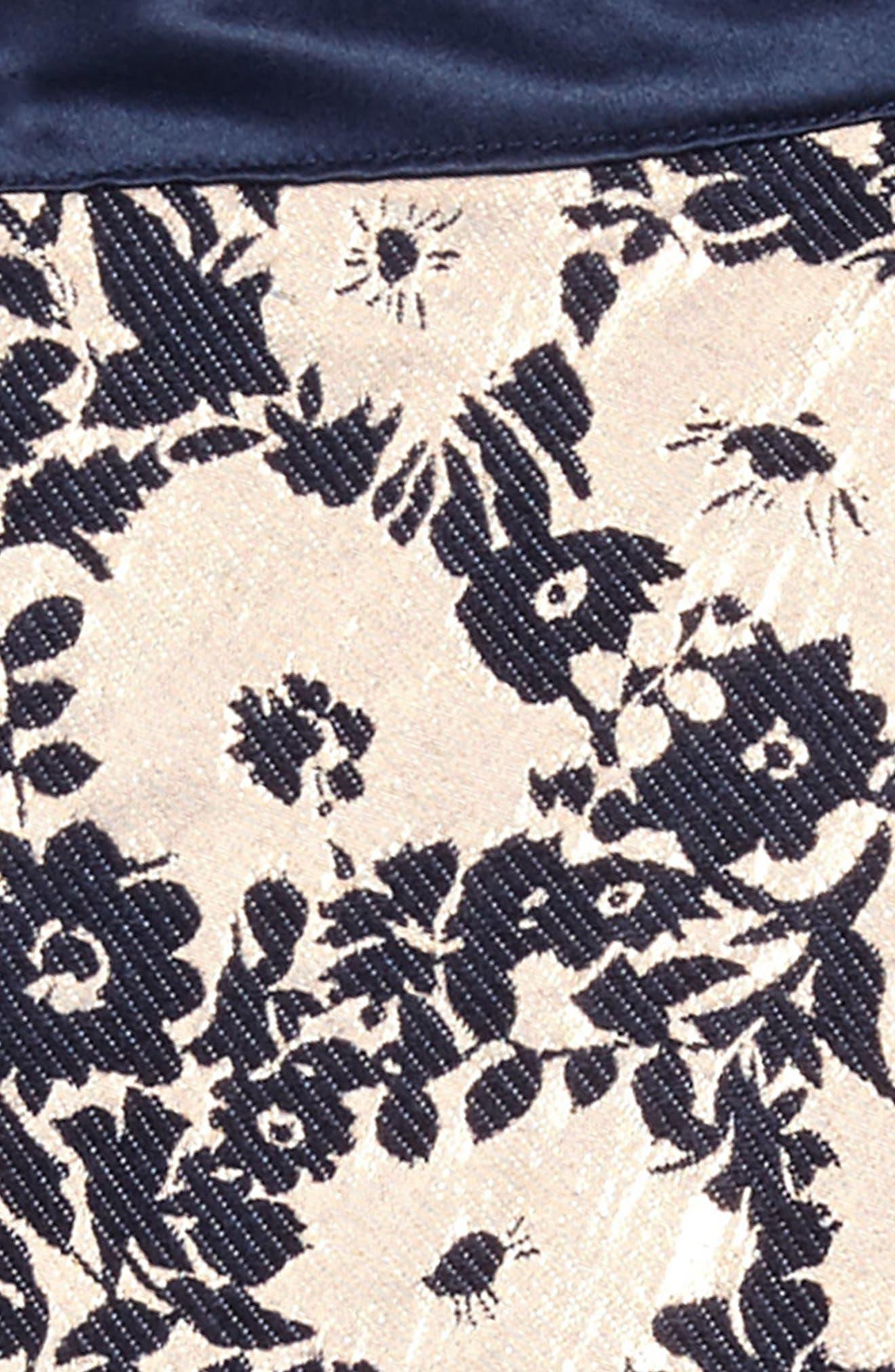 Alternate Image 3  - BLUSH by Us Angels Floral Brocade Fit & Flare Dress (Big Girls)