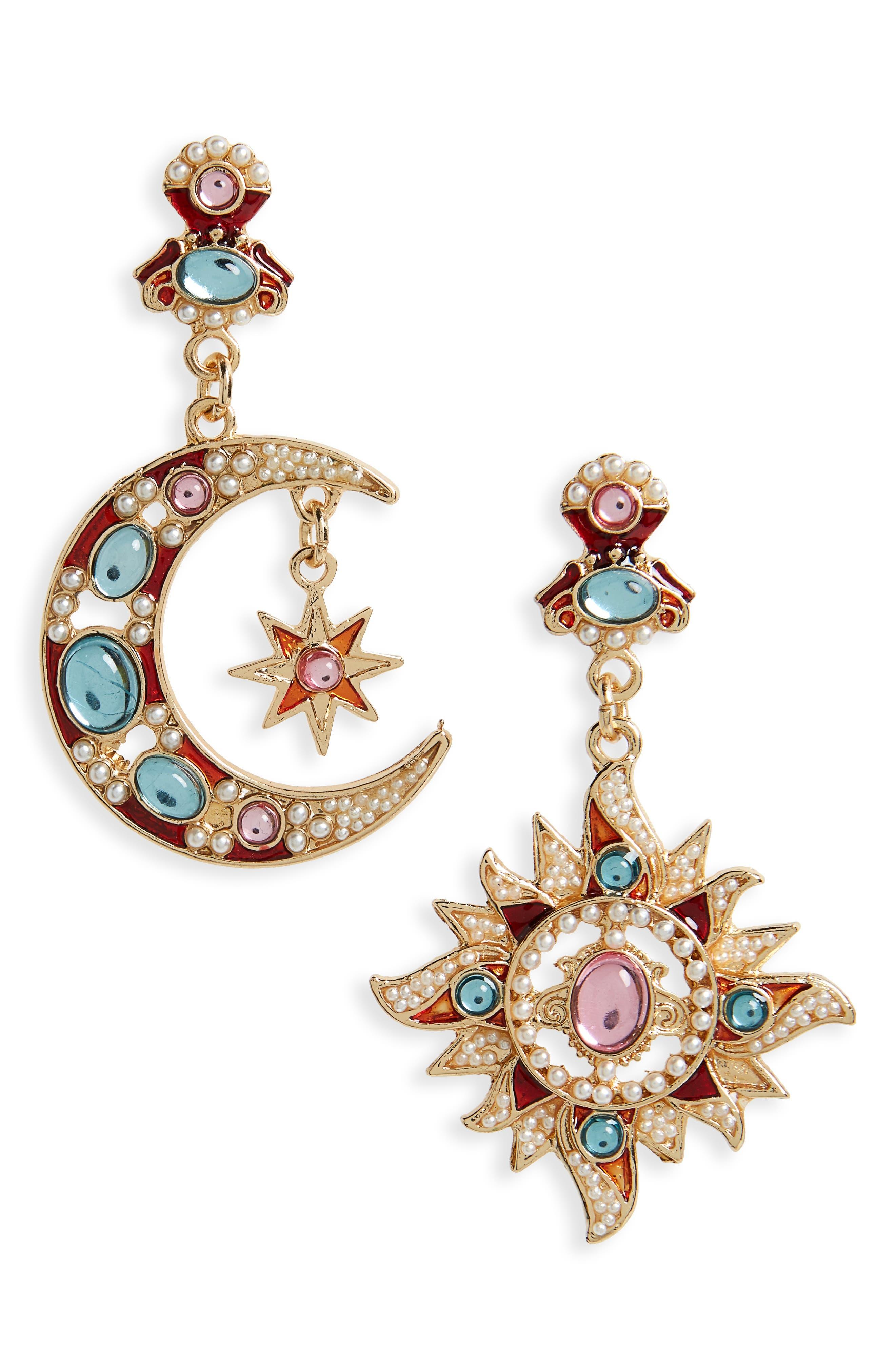 Shashi Moon & Star Drop Earrings